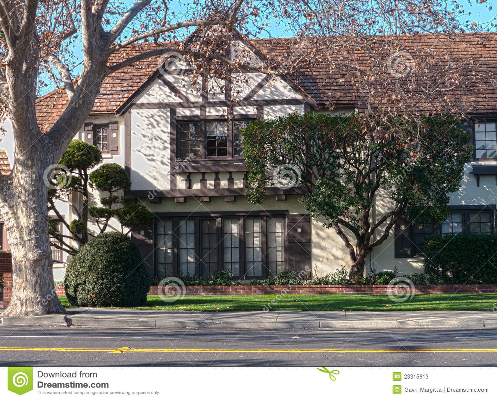 Elegant Tudor Style Victorian House Stock Photos Image