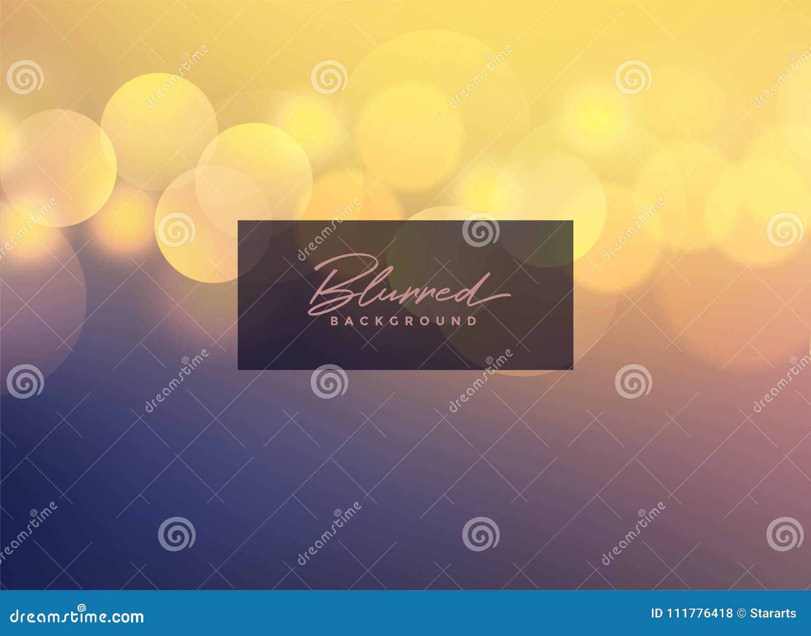 elegant vector blurred bokeh background