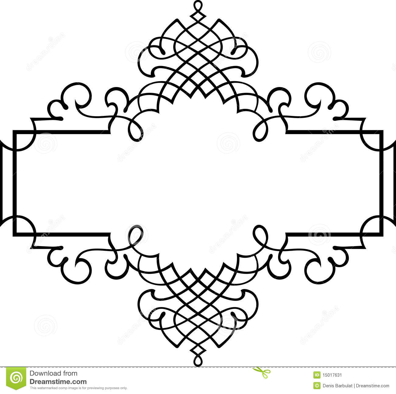Photo To Line Art Software Free Download : Elegant vector frame stock illustration of narrow