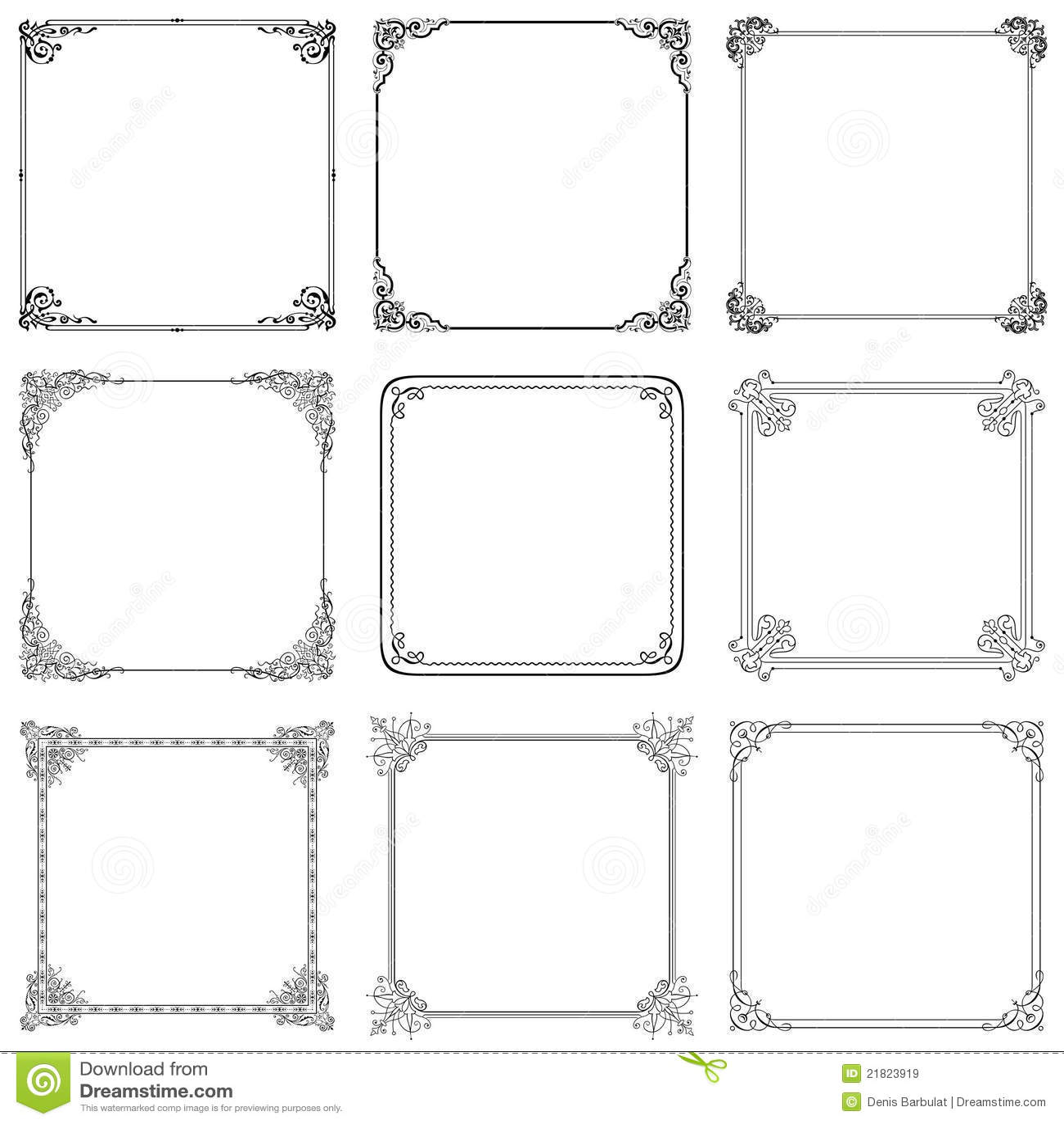 Elegant vector frame stock vector. Illustration of element - 21823919