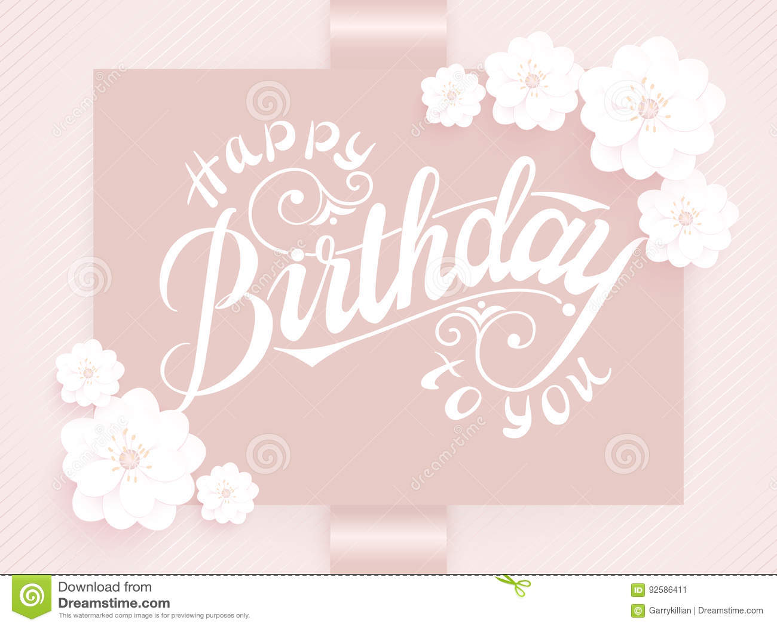 Elegant Vector Happy Birthday To You Card Vector Invitation Card