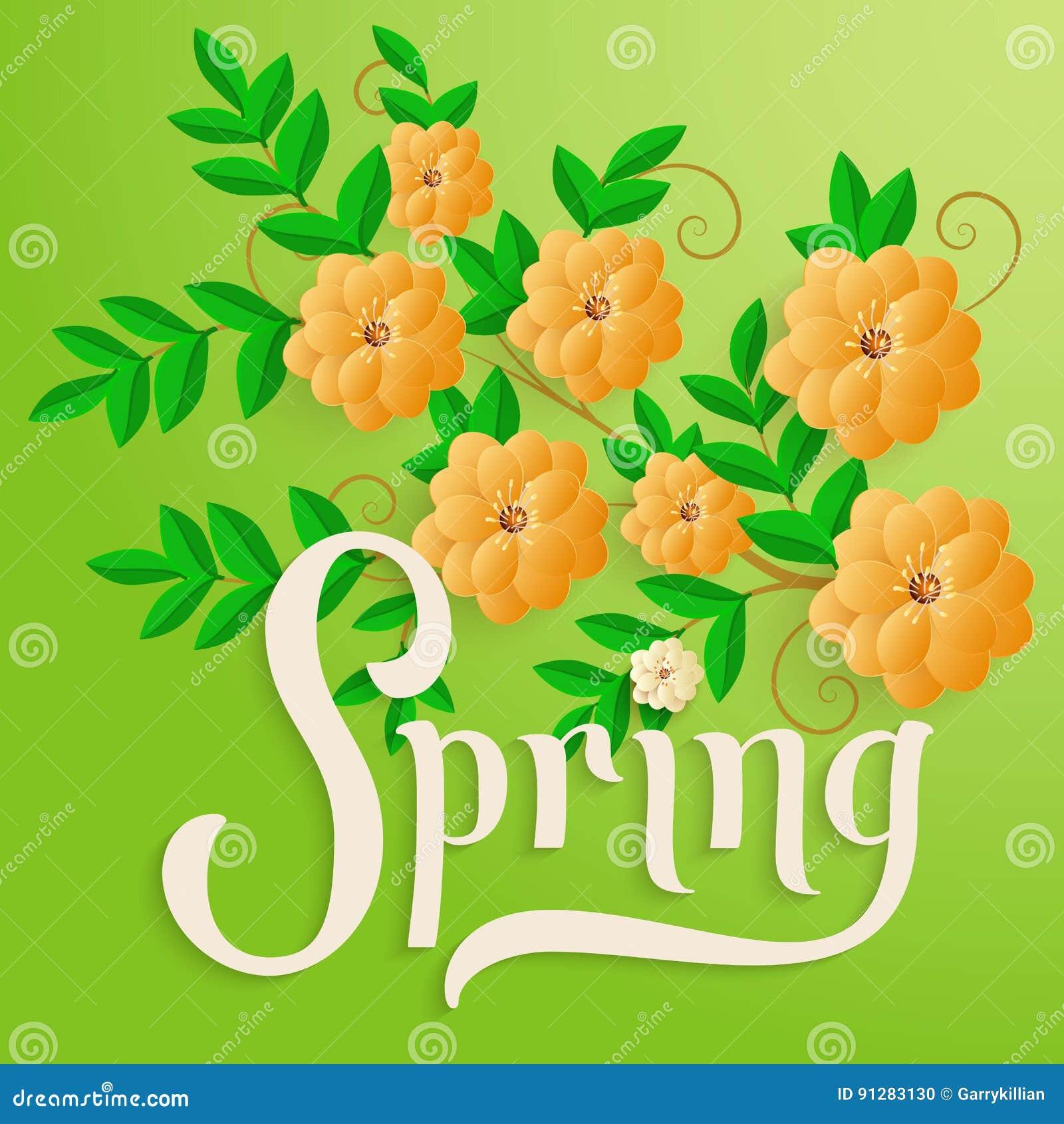 Elegant vector spring invitation card stock vector illustration download elegant vector spring invitation card stock vector illustration of floral honeymoon stopboris Choice Image