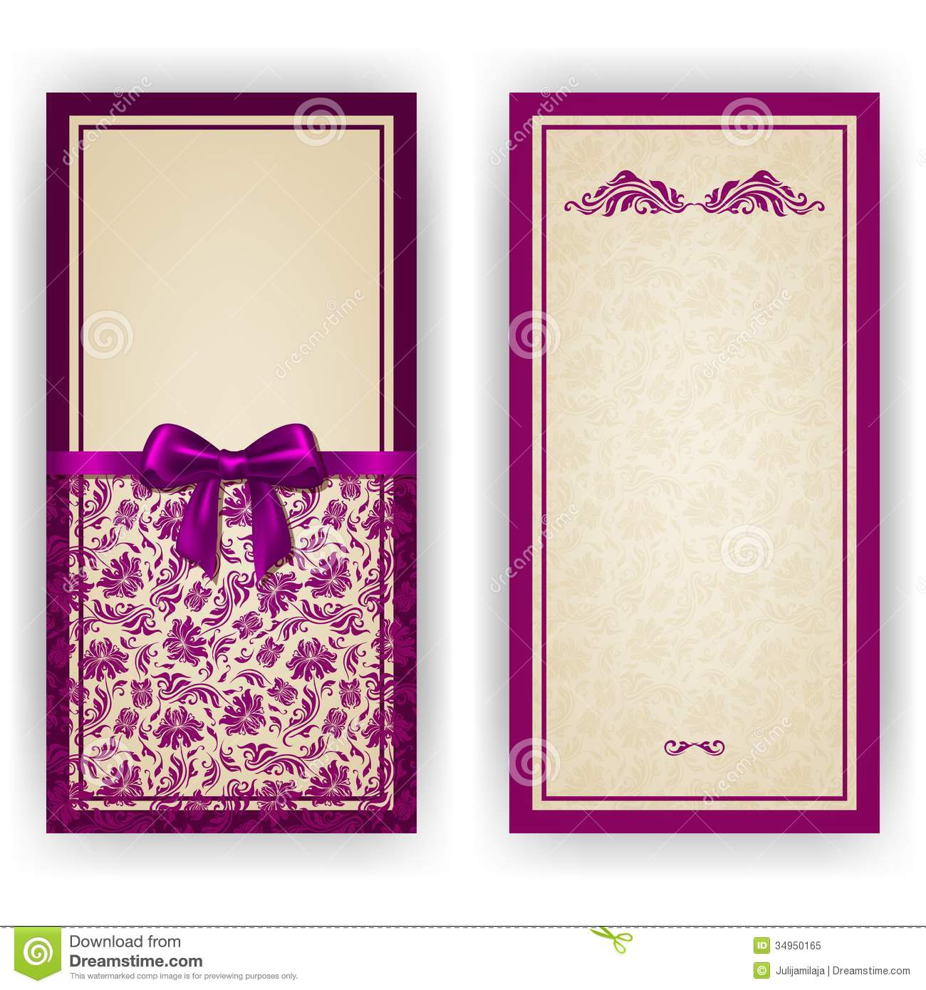 Frame design for wedding invitation vector border in victorian style - Elegant Vector Template For Luxury Invitation Royalty