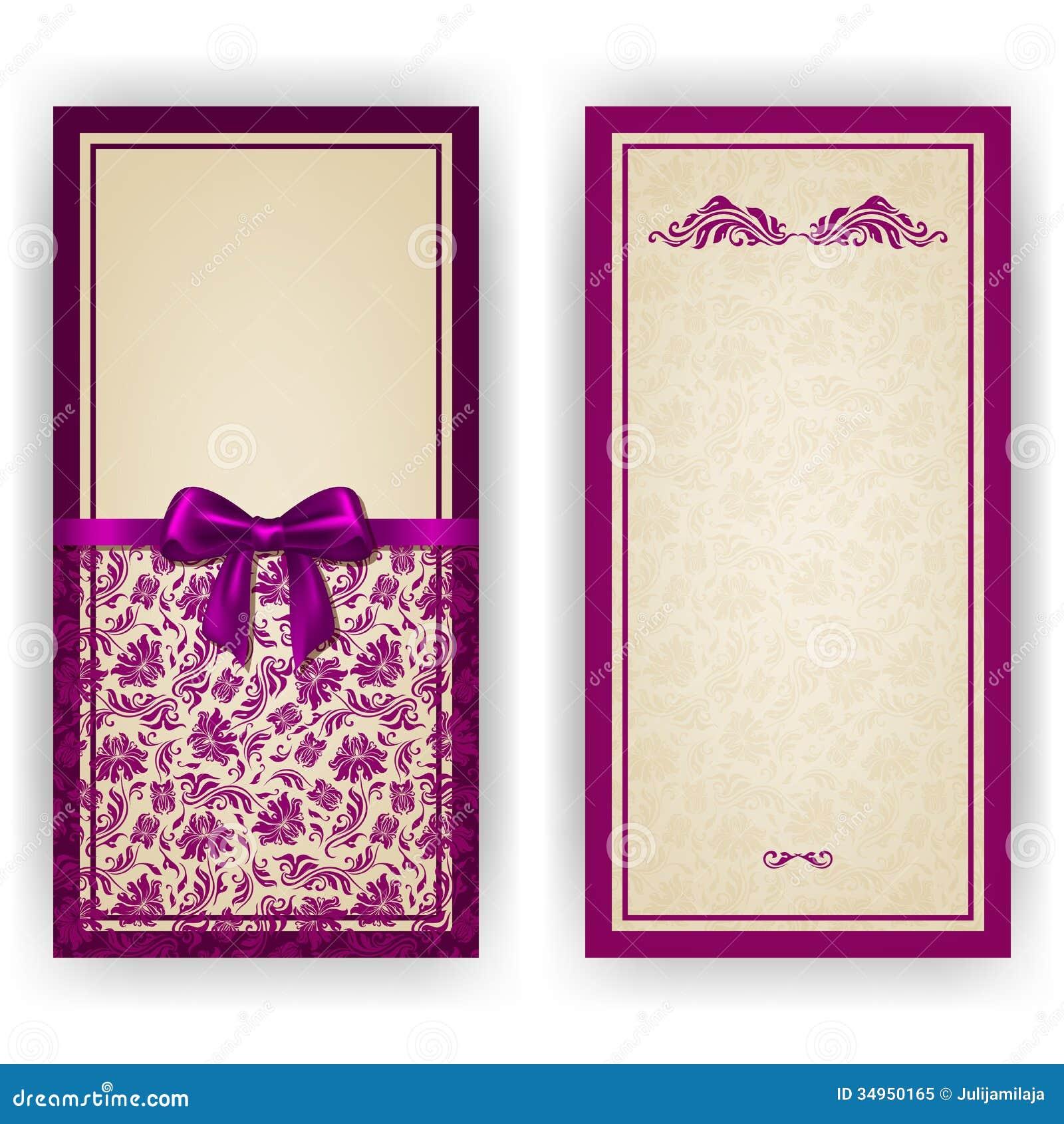 elegant vector template for luxury invitation royalty free stock