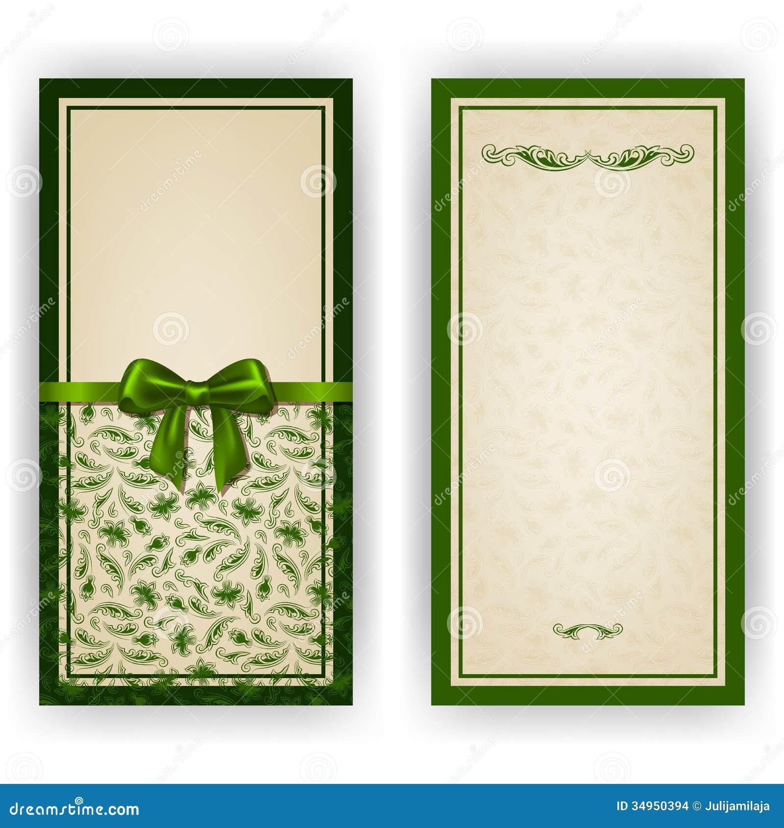 elegant vector template for luxury invitation stock vector