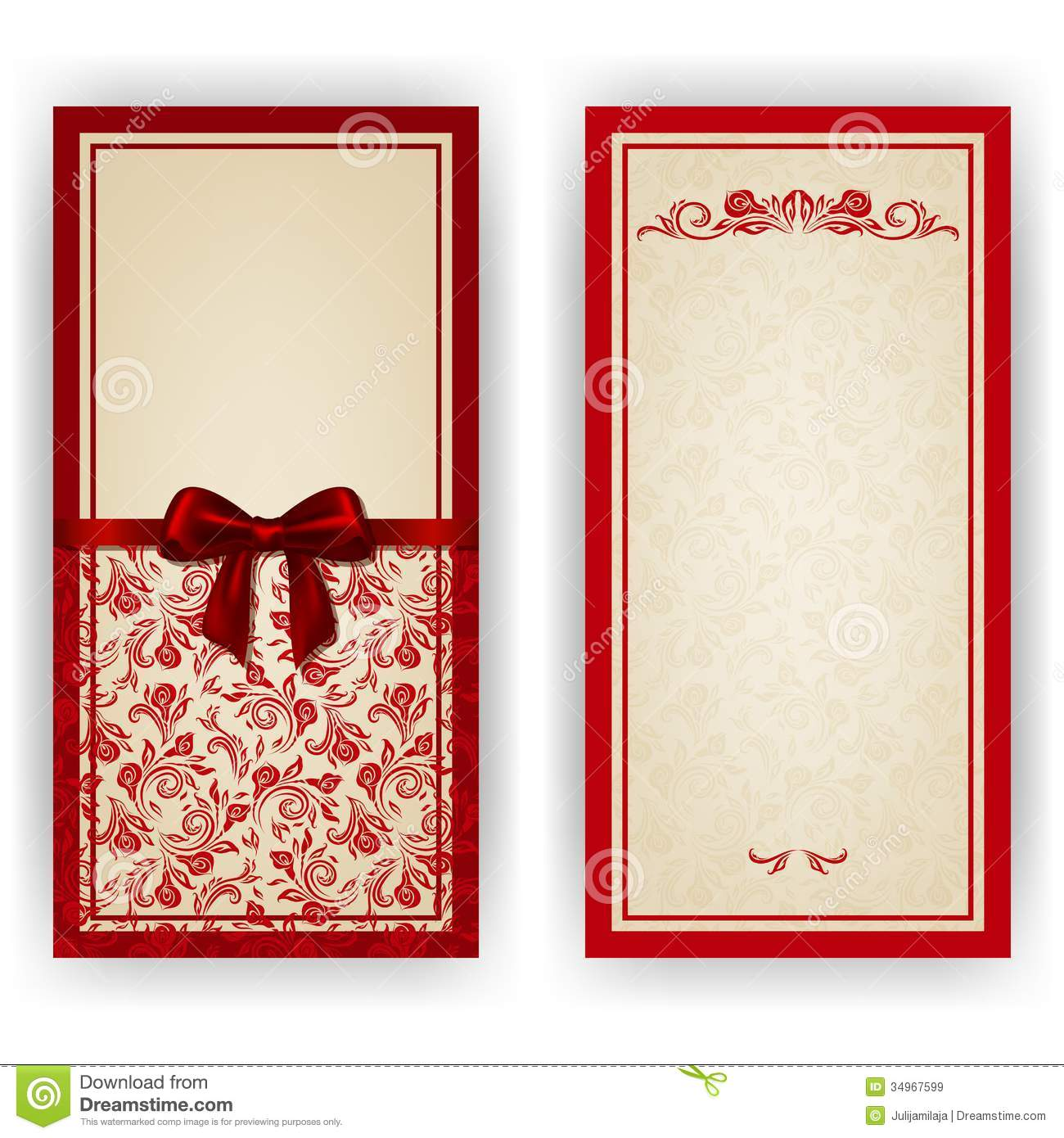 Elegant Vector Template For Luxury Invitation Royalty Free – Free Templates for Invitation Cards