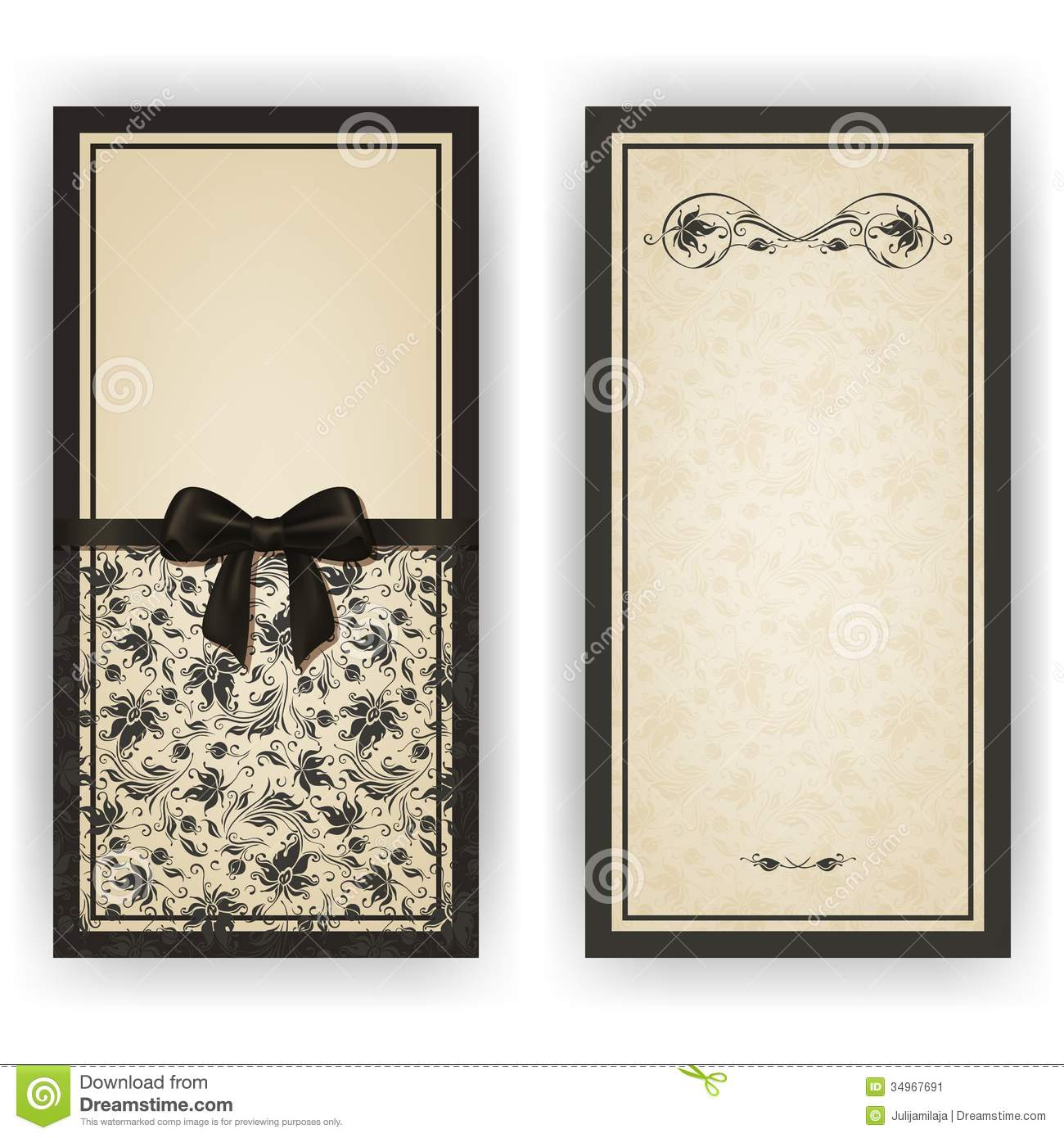 Elegant Vector Template For Luxury Invitation, Stock Image - Image ...