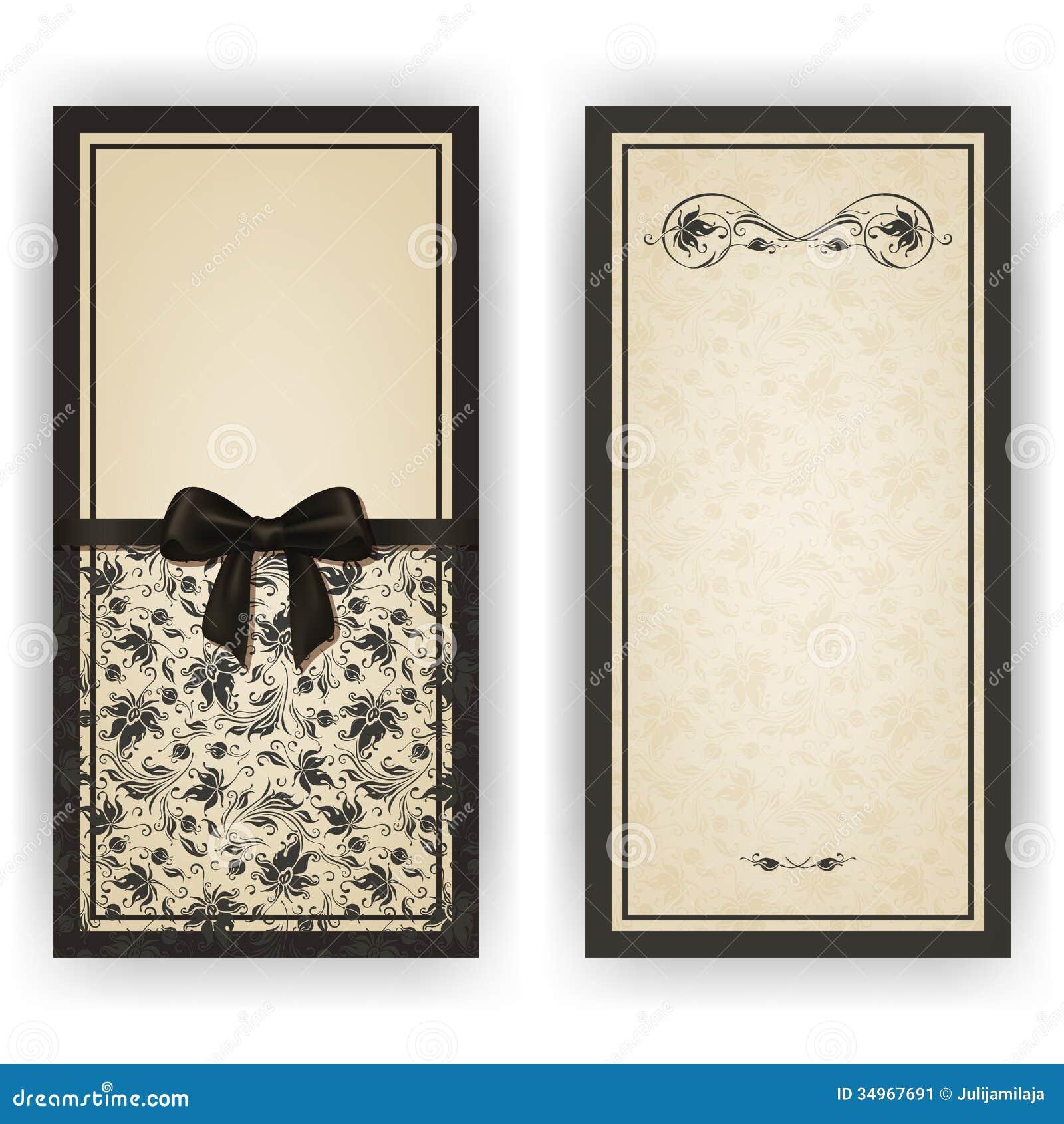 Elegant Vector Template For Luxury Invitation, Stock Image - Image: 34967691