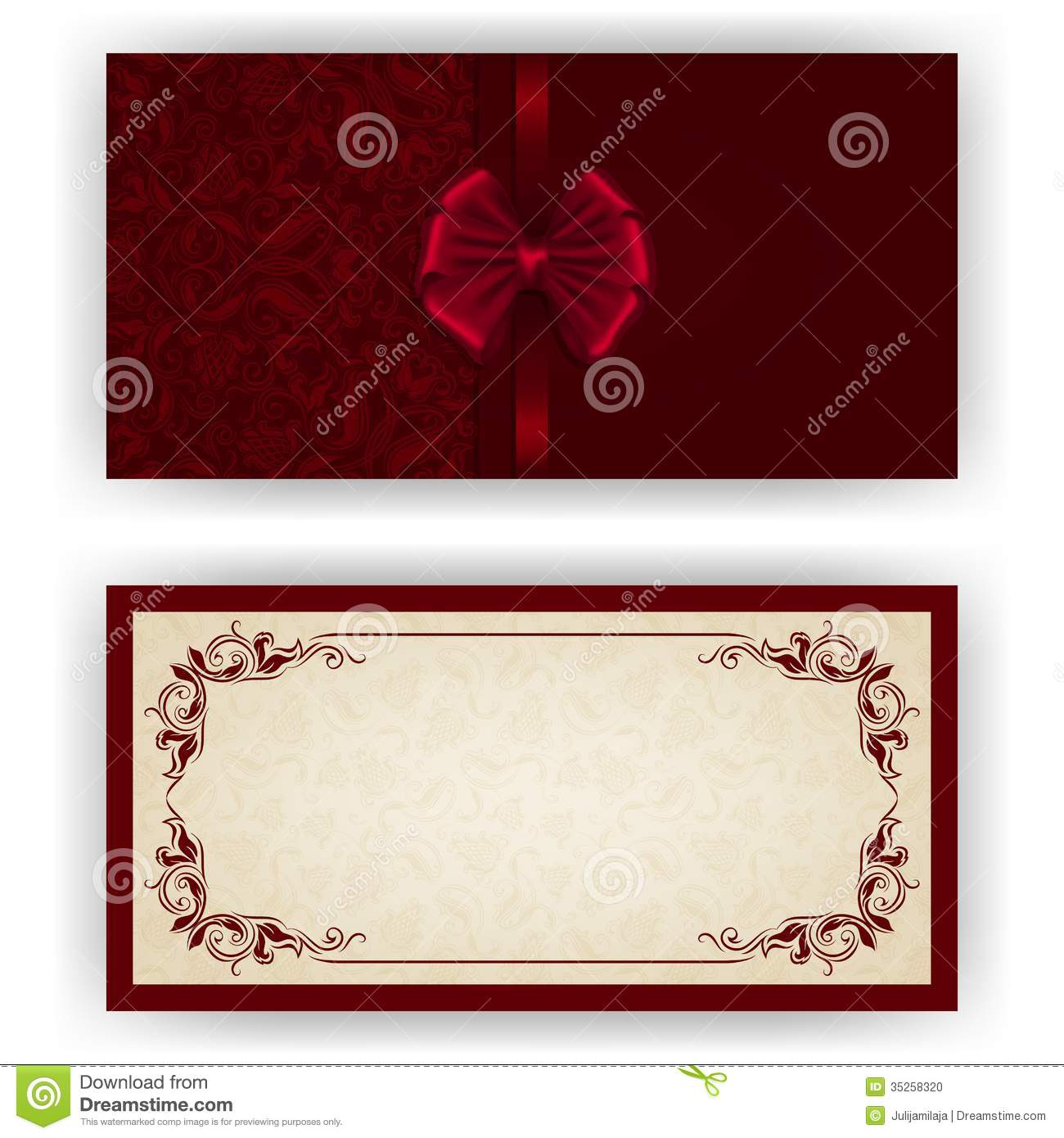 elegant vector template for luxury invitation stock photo image 35258320. Black Bedroom Furniture Sets. Home Design Ideas