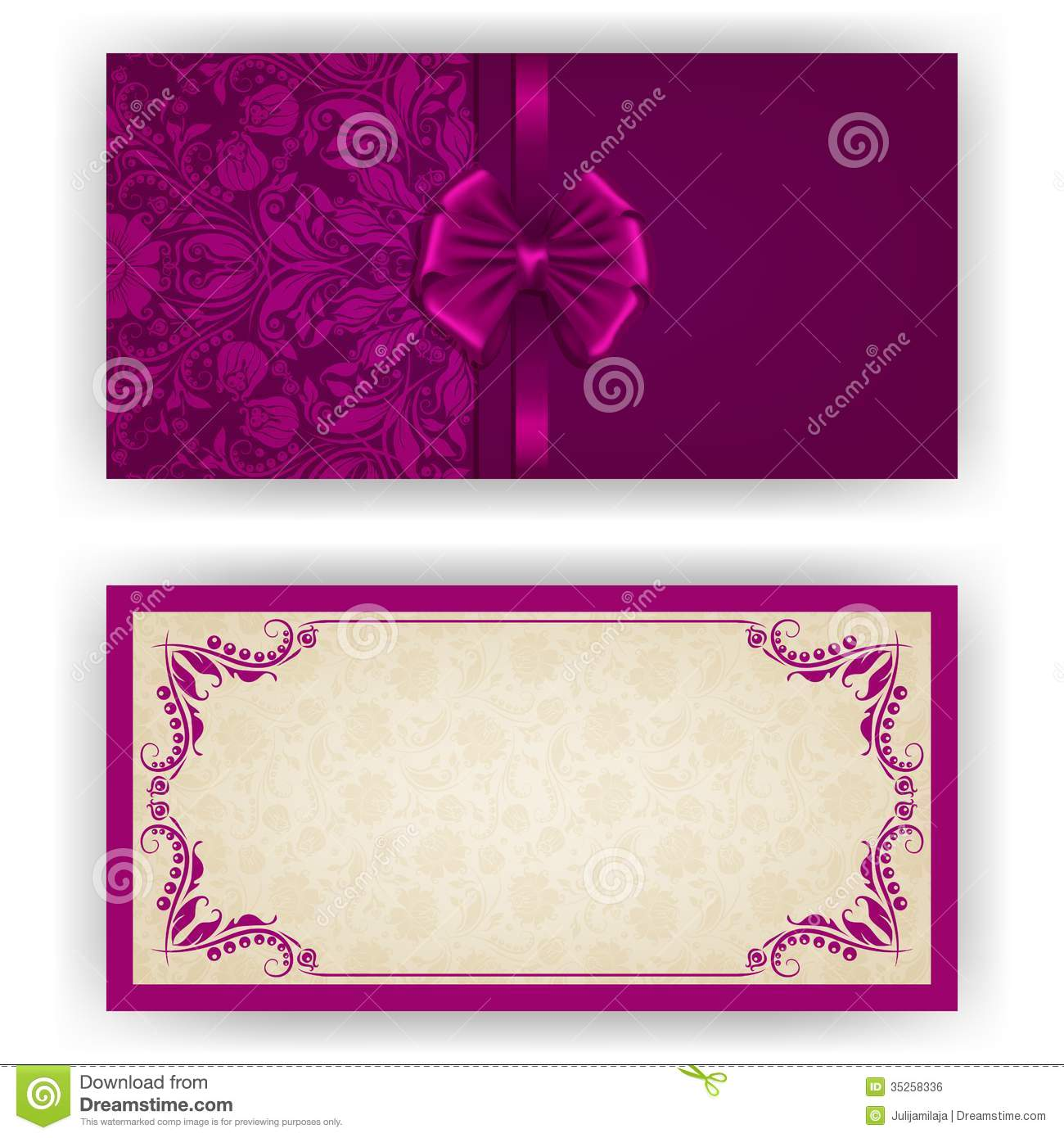 Elegant vector template for luxury invitation stock vector elegant template luxury invitation card with lace ornament bow place for text floral elements ornate background vector illustration eps 10 stopboris Image collections