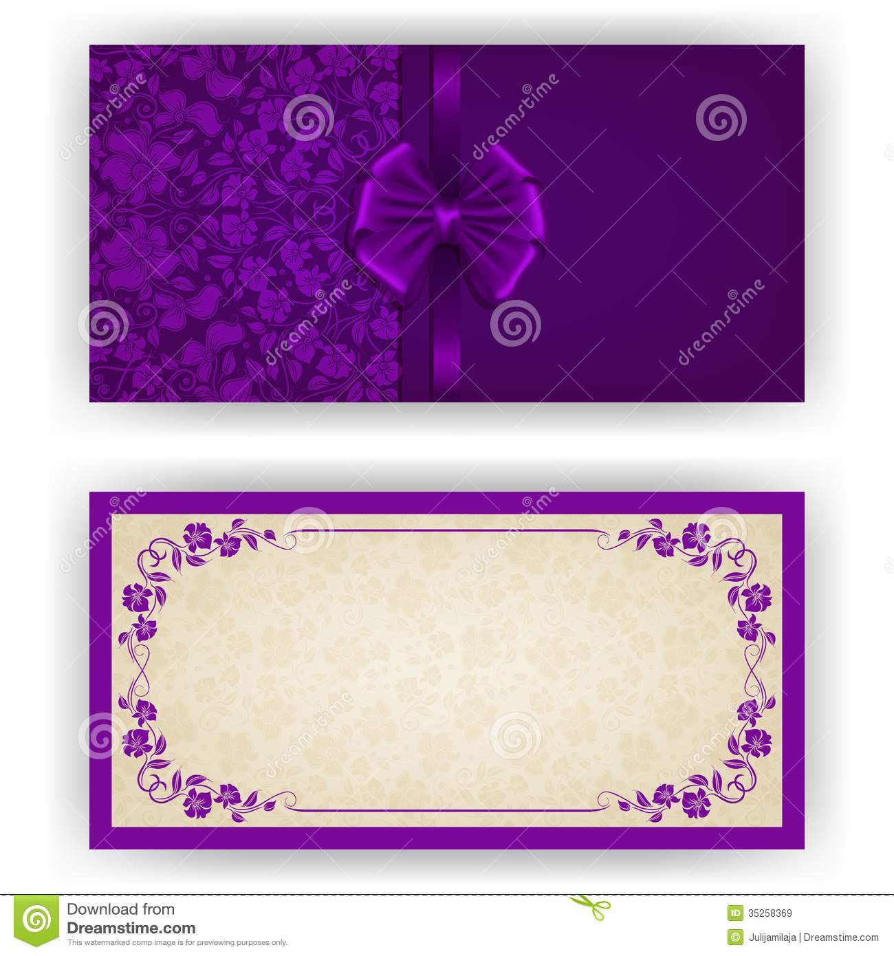 Elegant Vector Template For Luxury Invitation, Royalty ...