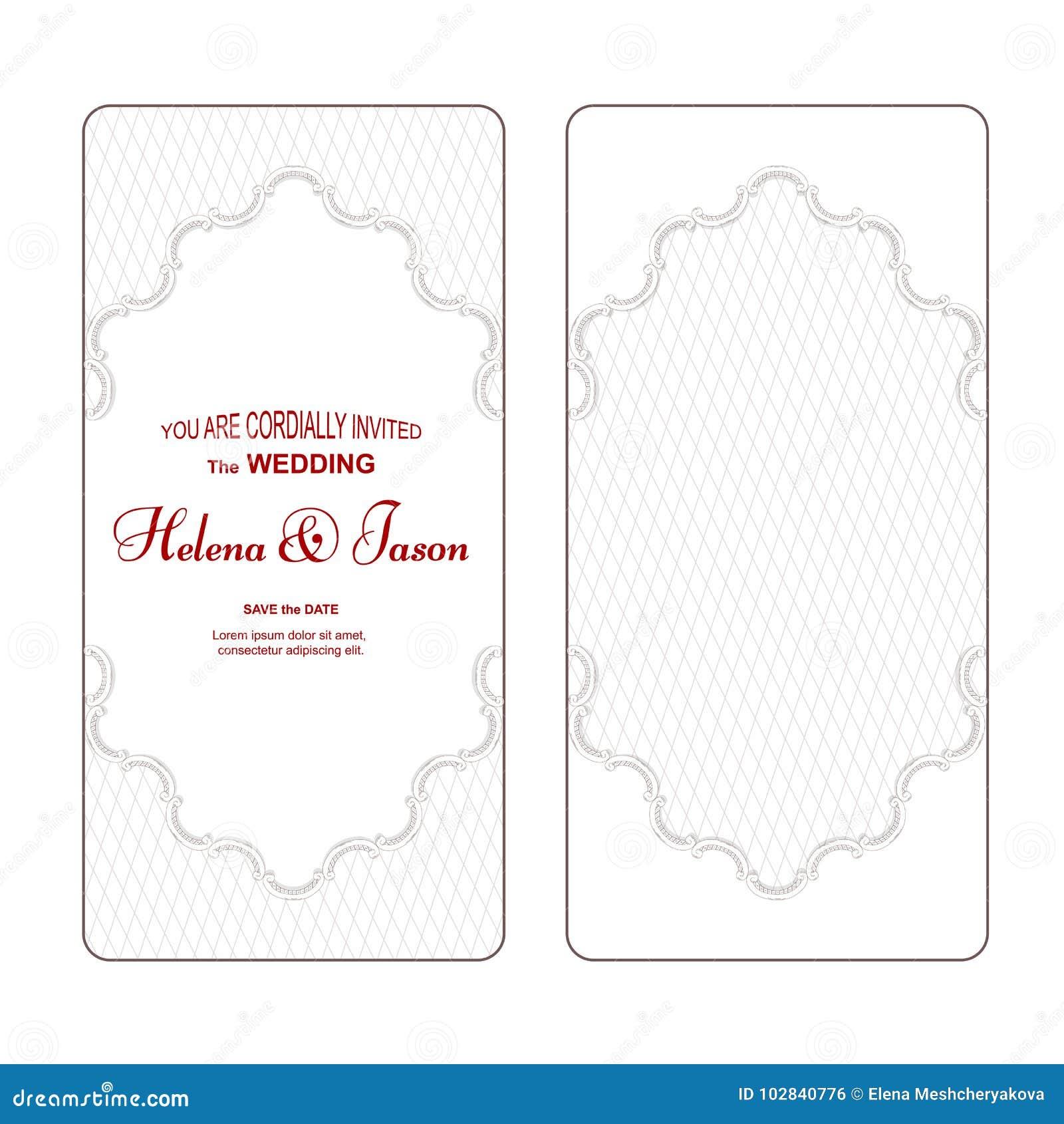 An Elegant Vertical Vintage White Flyer For The Wedding Invitation ...