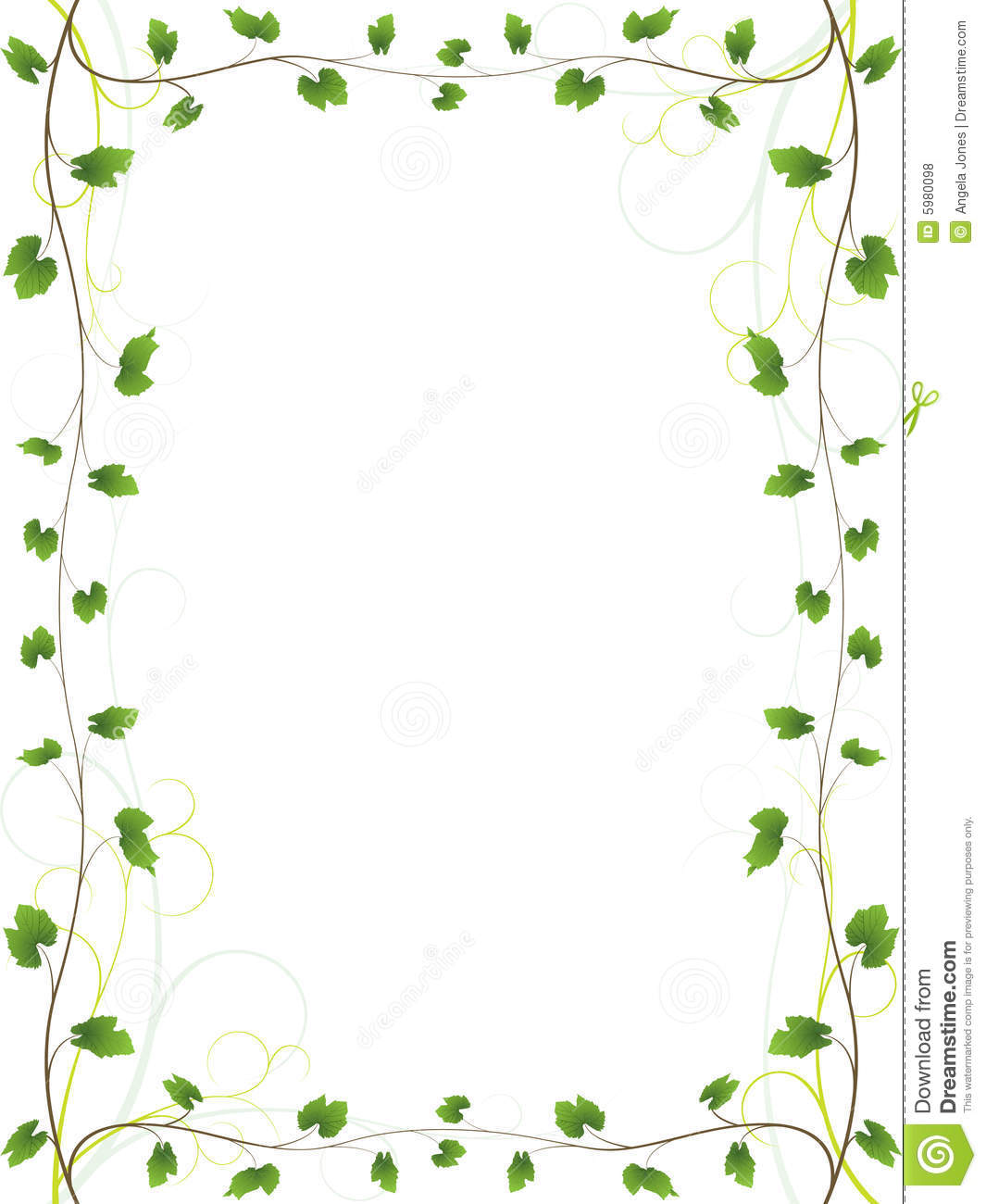Elegant Vine Border Royalty Free Stock Photos Image 5980098