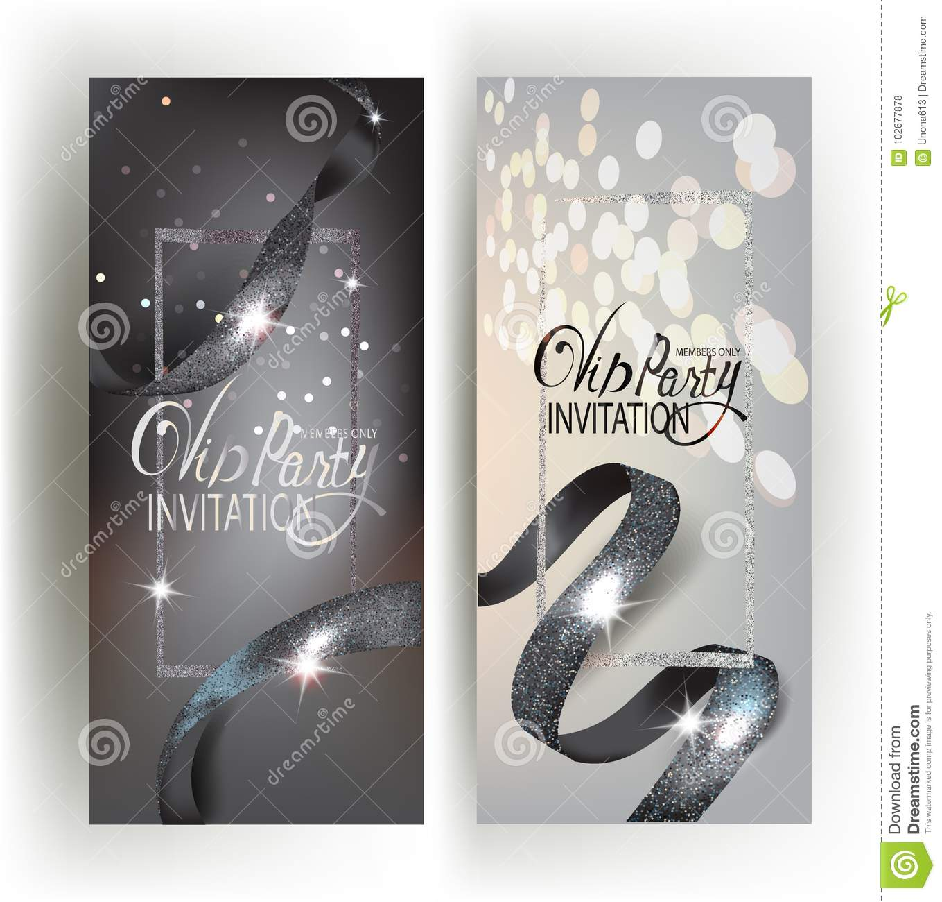Sparkling Silver Banners Memmorial Banners