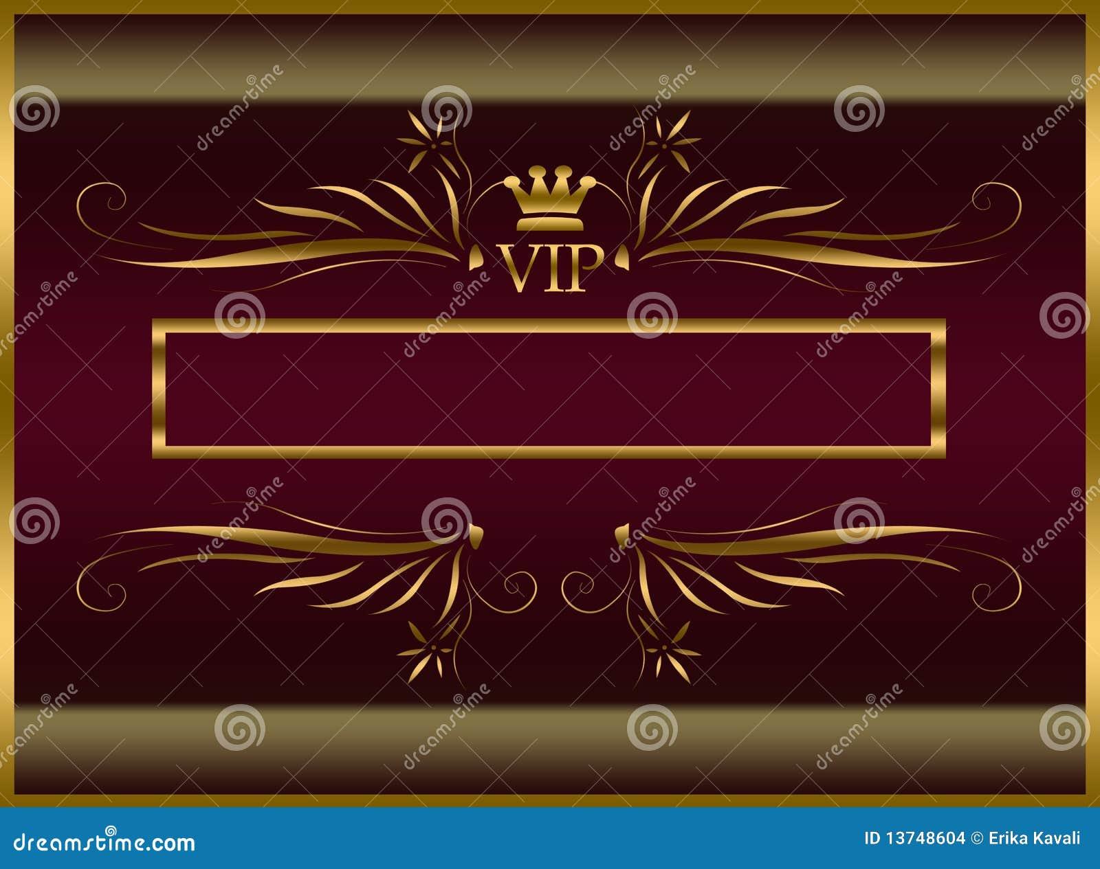 elegant vip template stock illustration illustration of colorful