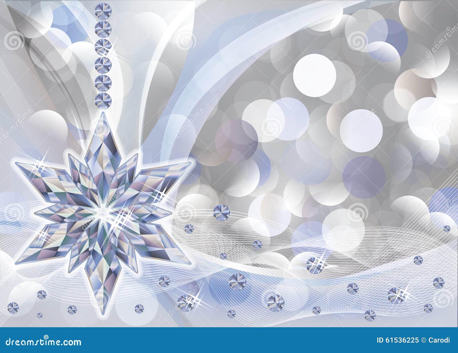 Elegant Wallpaper With Diamond Snowflake Stock Vector
