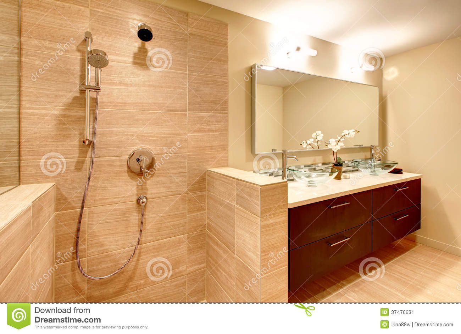 Elegant Warm Tones Bathroom Stock Image Image 37476631