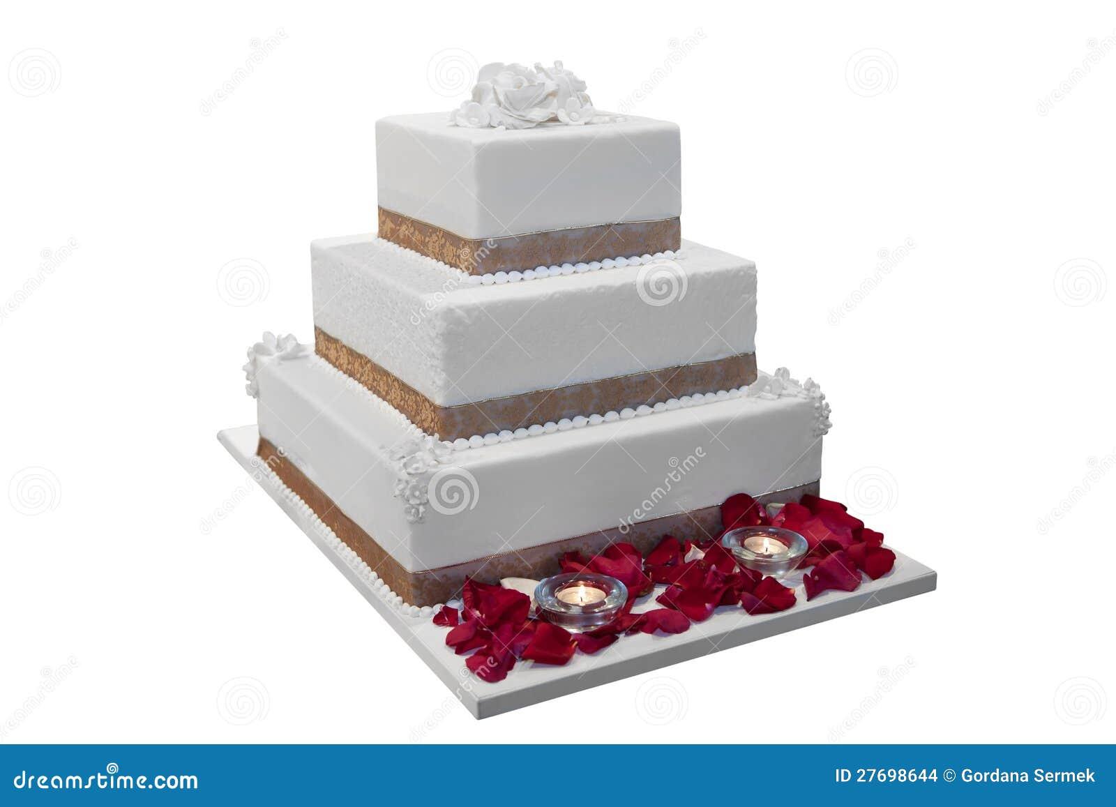 Elegant Wedding Cake Stock Image