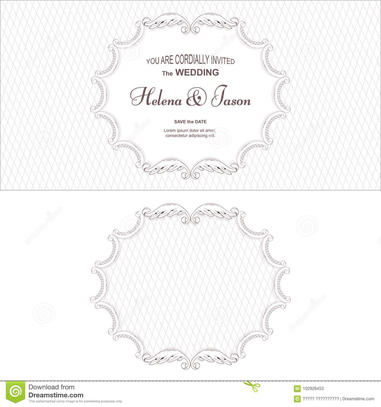 Elegant Wedding Frame In Two Versions Executed In A Victorian Style
