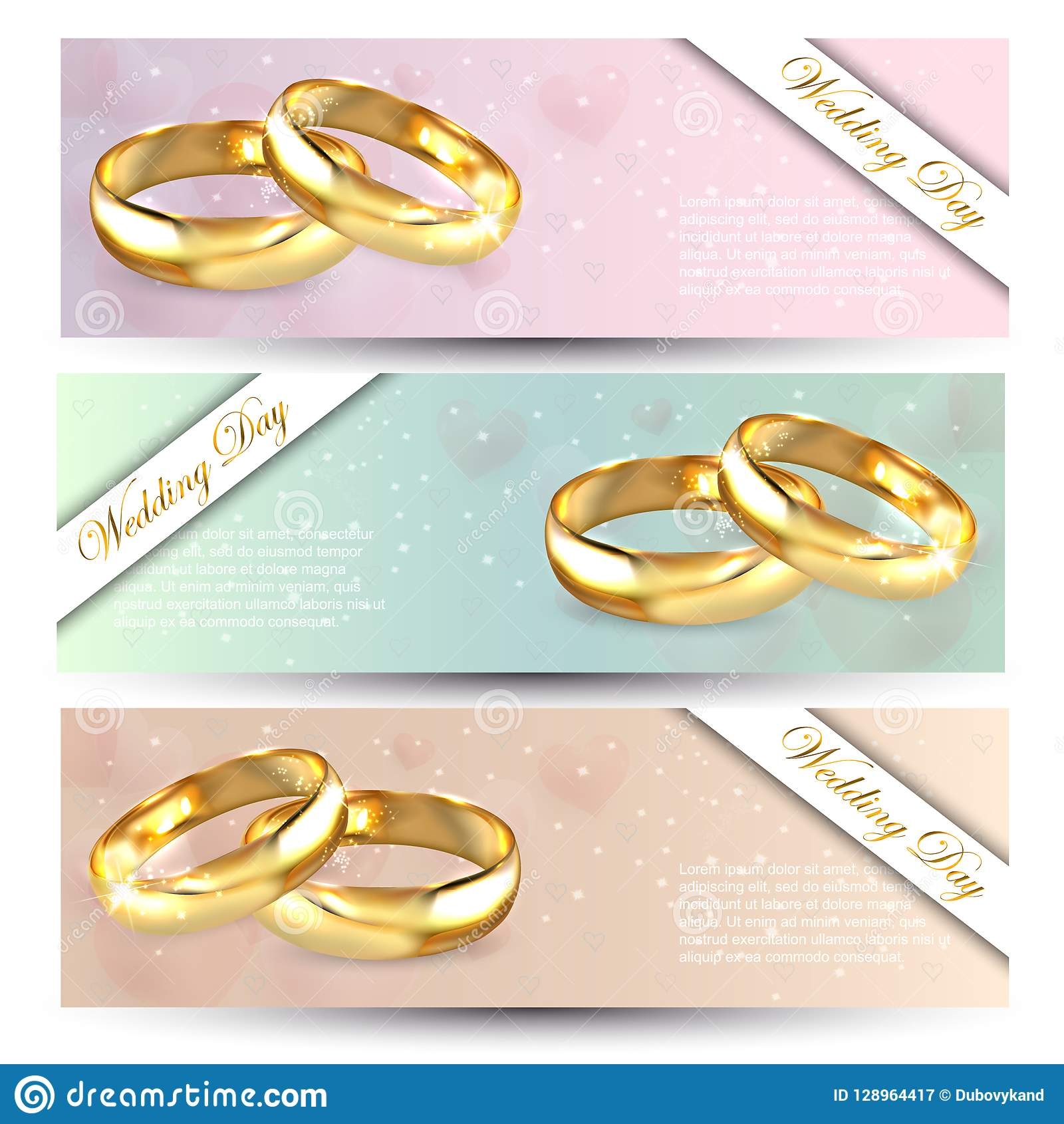 Together Forever Two Shiny Wedding Rings In Retro Style Stock