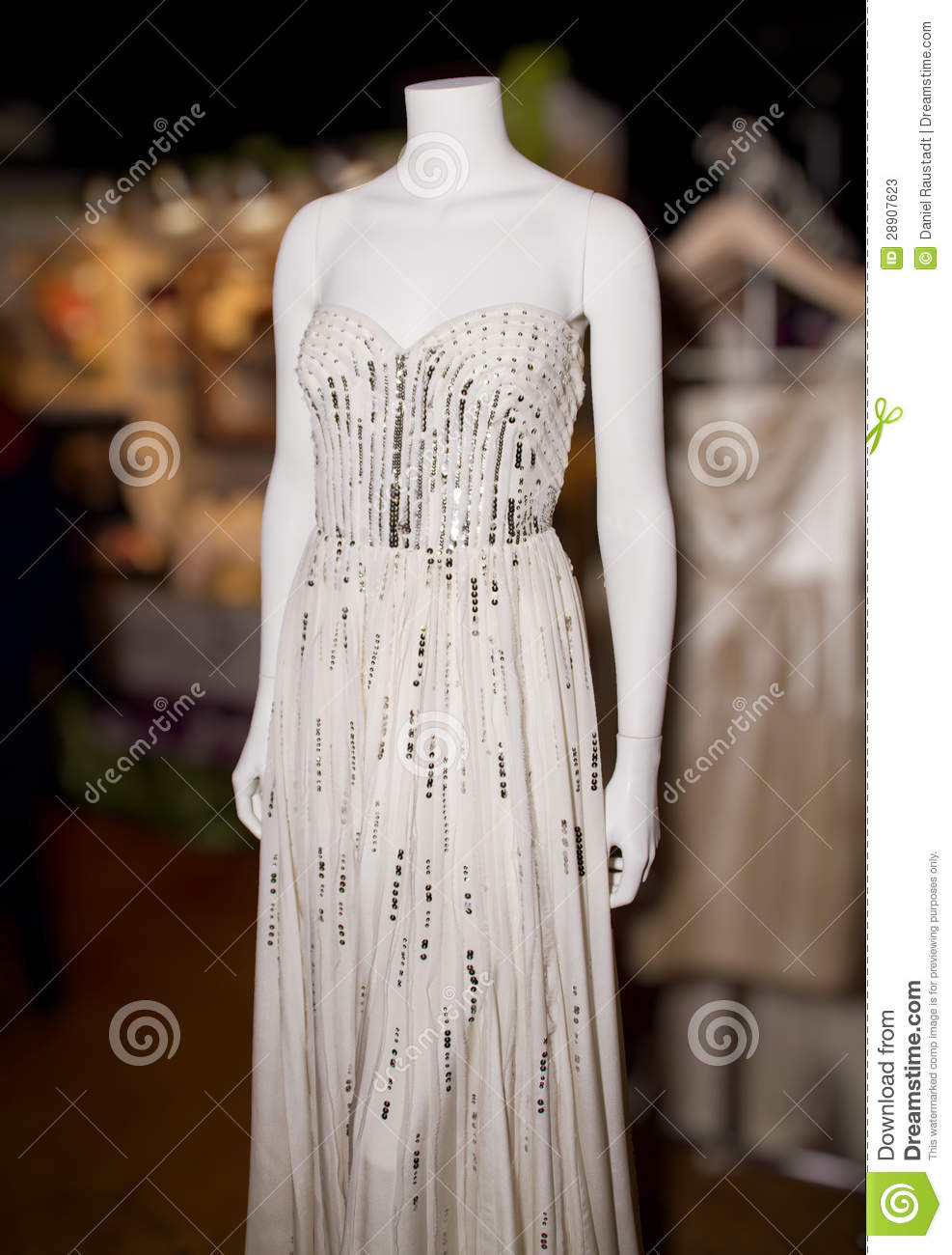 Bling Wedding Dresses On Manikins