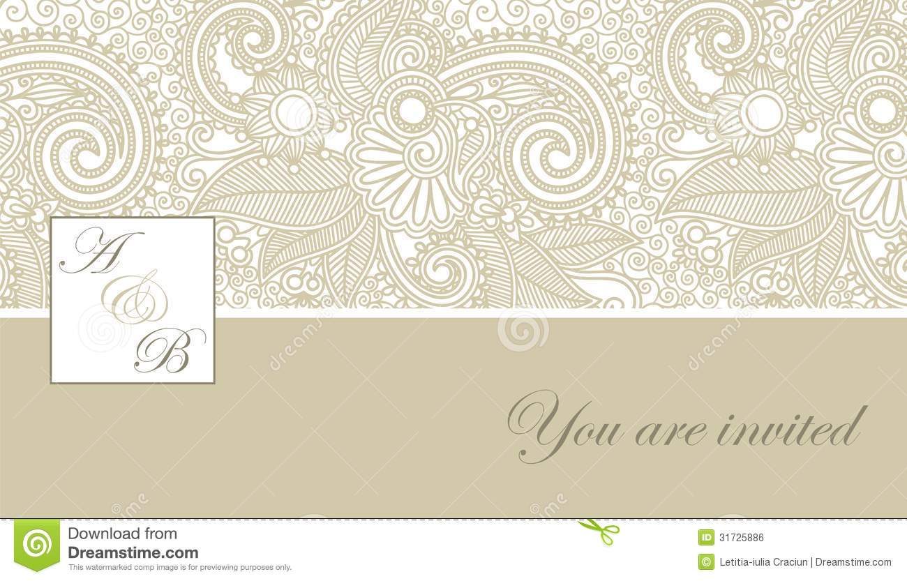 Lace Themed Wedding Invitations is best invitation design