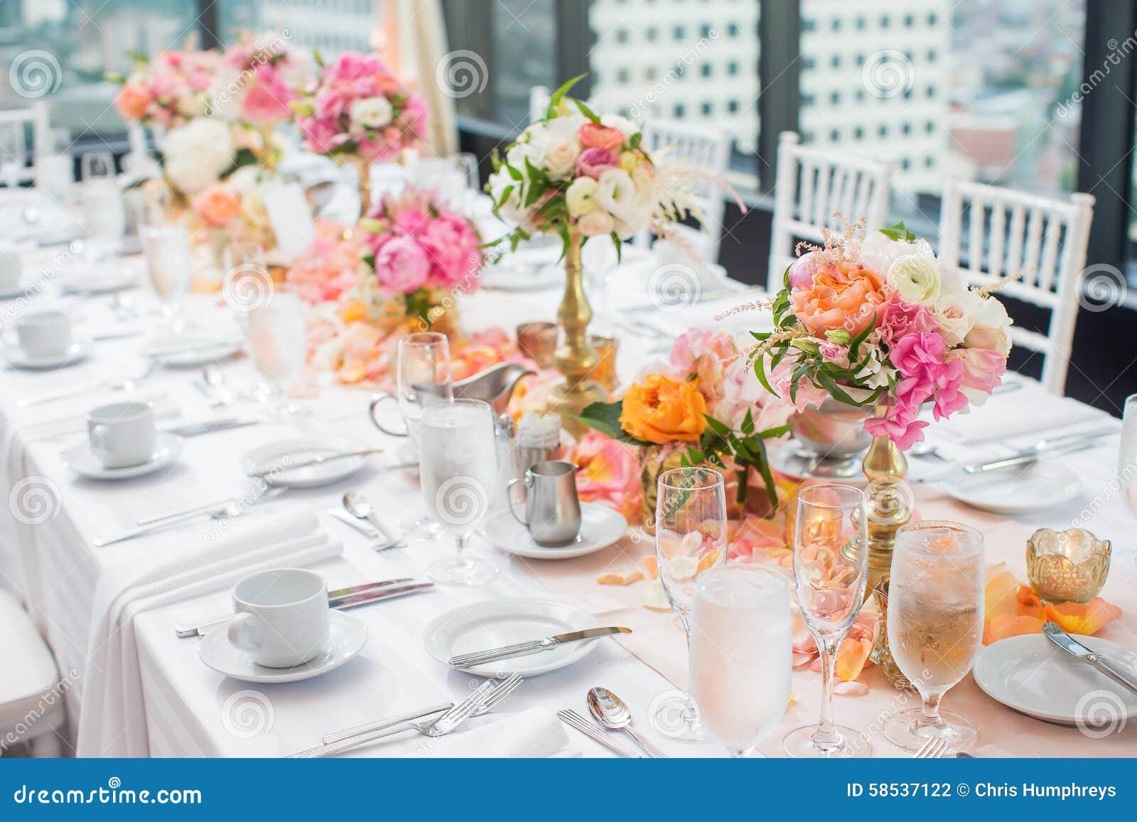 Wedding Reception Centerpieces Stock Photo Image 58537122 : elegant wedding reception table decor centerpieces hotel ballroom 58537122 from www.dreamstime.com size 1300 x 957 jpeg 159kB
