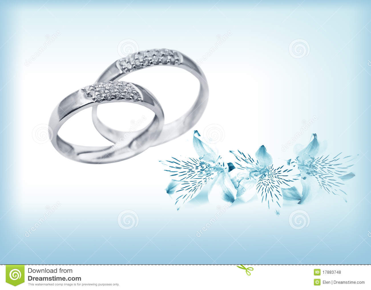 Elegant Wedding Rings With Brilliants Royalty Free Stock