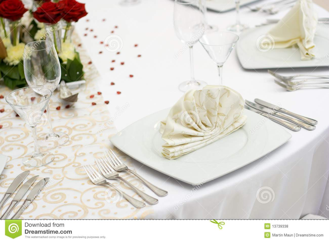 Elegant Wedding Table Setting Stock Photo Image Of
