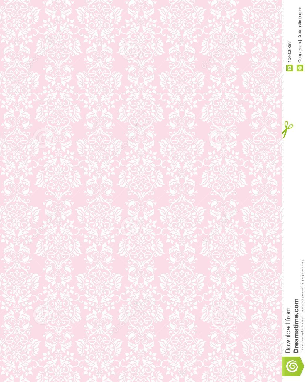 Elegant White Flowers Pattern Textured Pink Wallpaper Background
