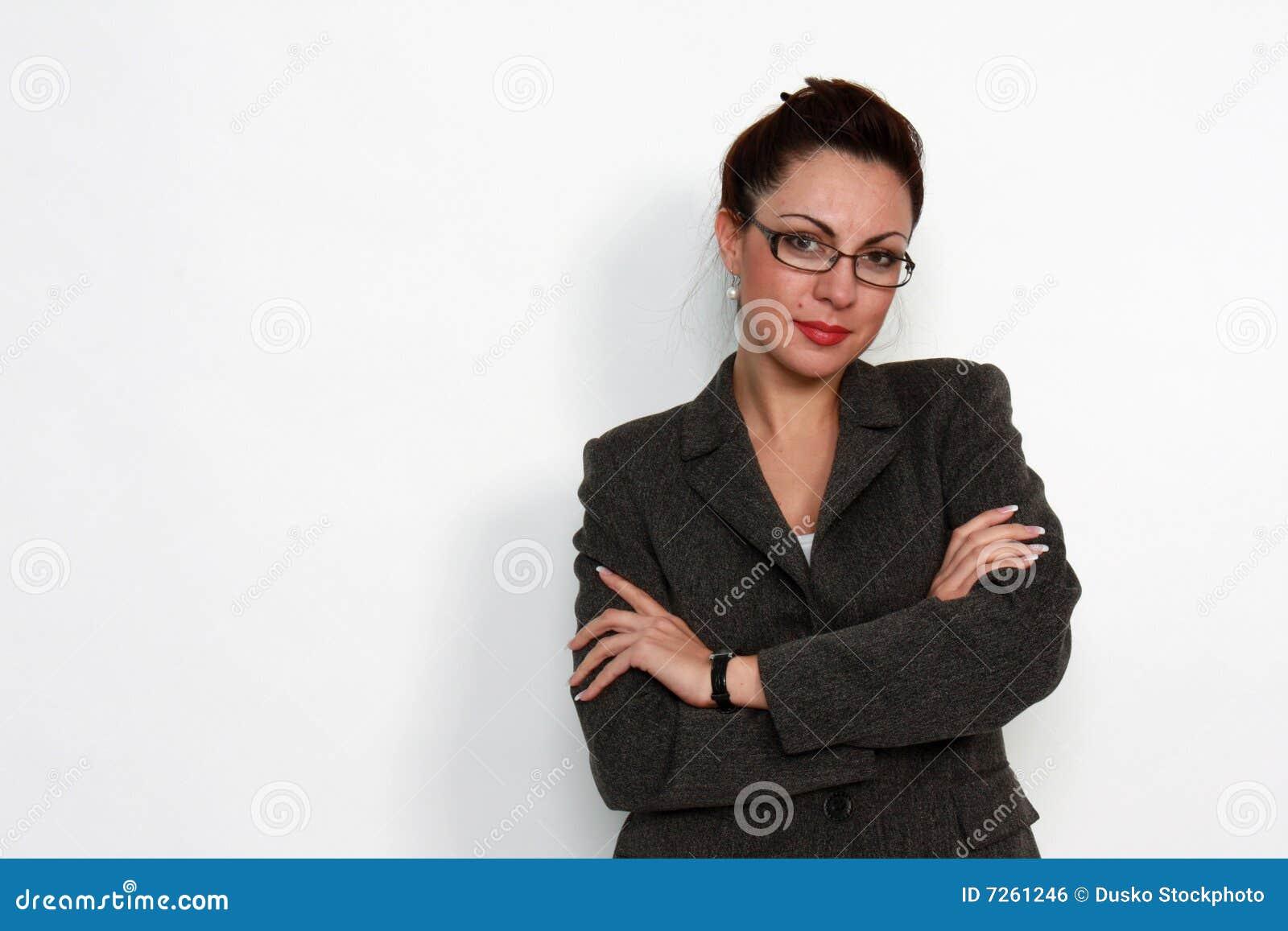elegant woman with eyeglasses