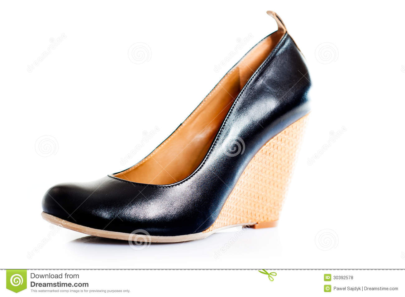 Royalty Free Stock Photos: Elegant woman shoes on white background