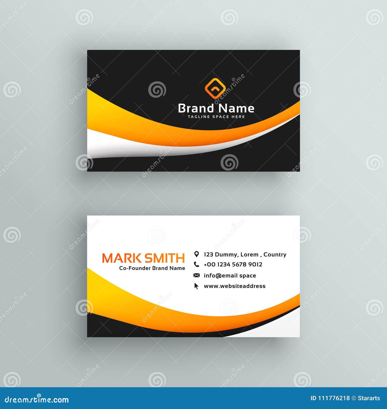 Elegant yellow black modern business card design