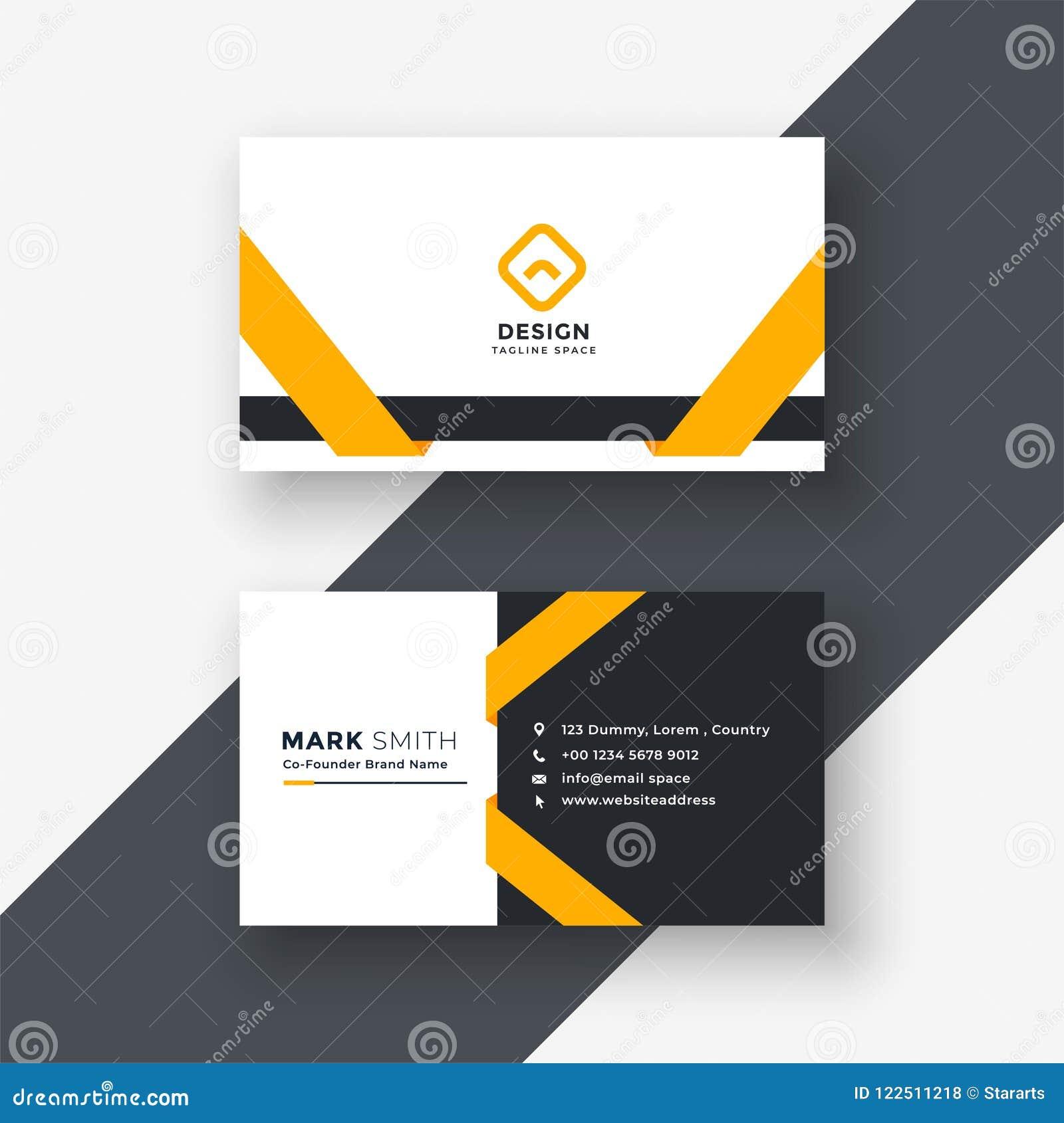 Elegant yellow business card template
