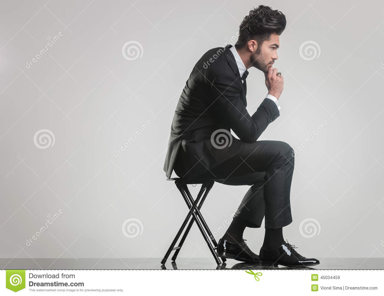 Man On Stool Royalty Free Stock Photo Cartoondealer Com