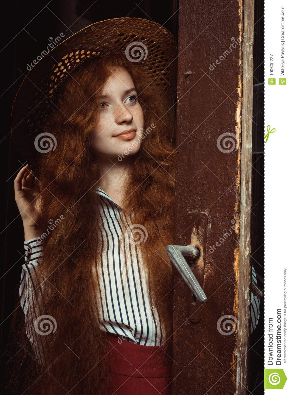 Francesca Capaldi (actress, model) in 2020   Red haired