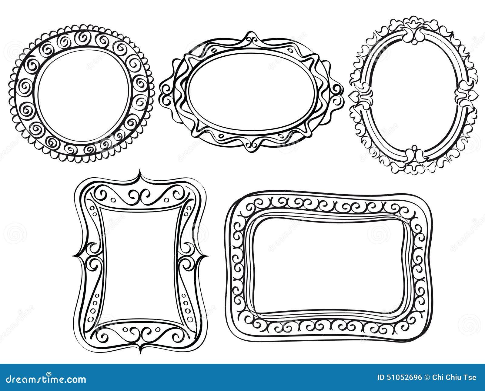 Elegante aufwändige Rahmen stock abbildung. Illustration von kreis ...