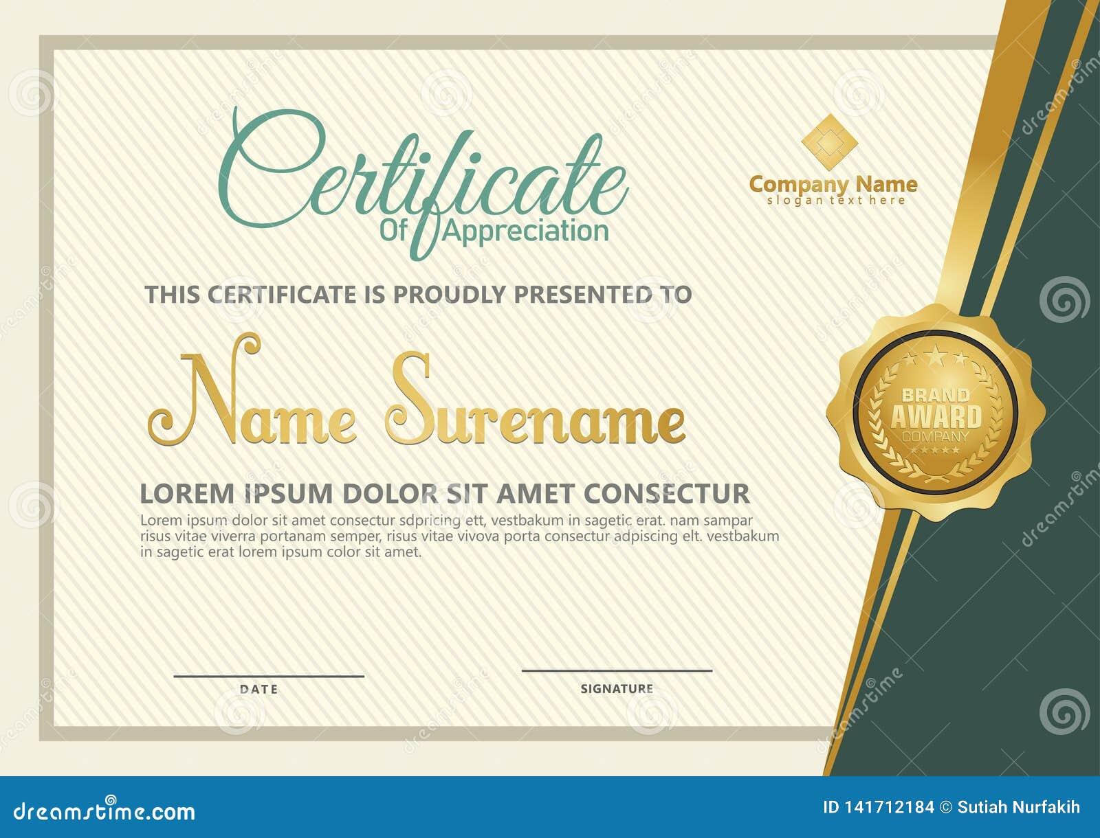 Elegante certificaatsjabloonvector met luxe en moderne patroonachtergrond