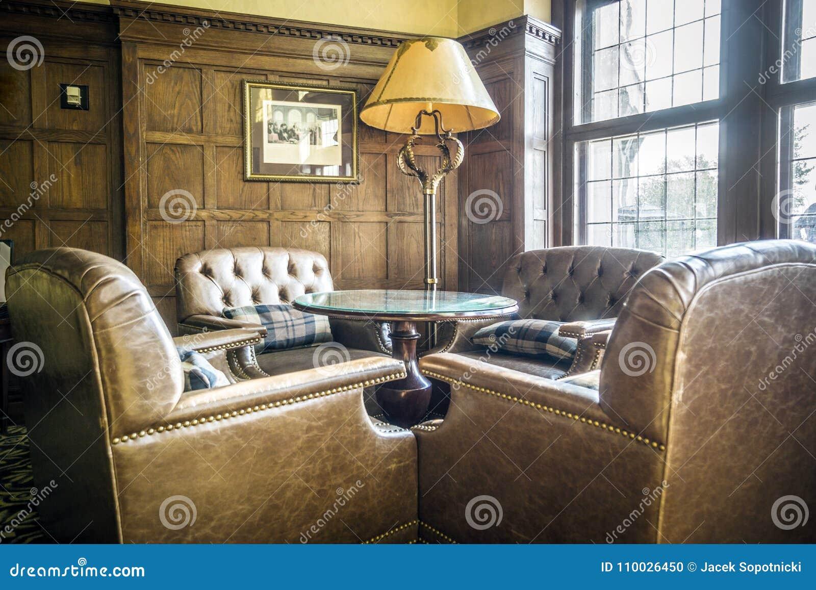 Elegante hal in een luxueus hotel