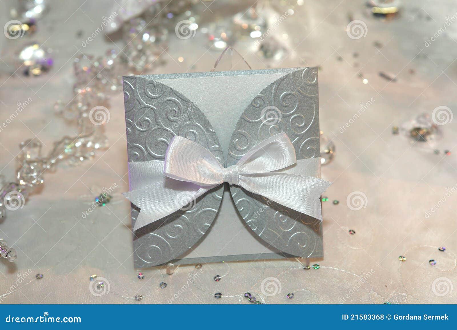 Elegante Hochzeitseinladung Lizenzfreie Stockfotos - Bild: 21583368