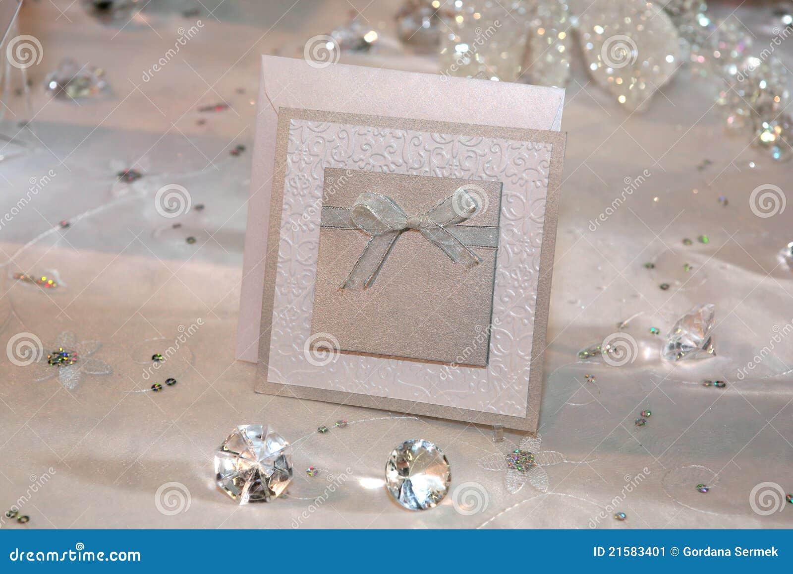 Elegante Hochzeitseinladung Stockbild - Bild: 21583401