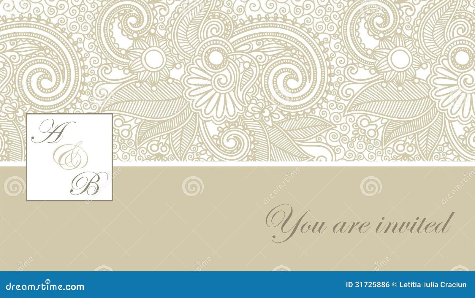 Elegante Hochzeitseinladung Lizenzfreies Stockbild - Bild: 31725886