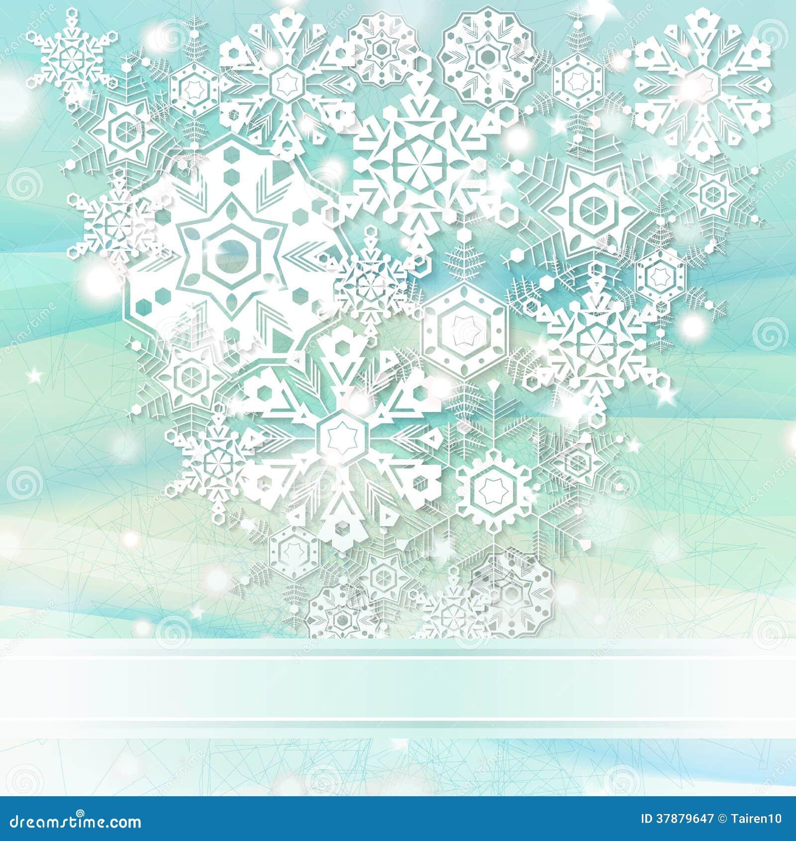 Elegante Kerstmisachtergrond met sneeuwvlokken