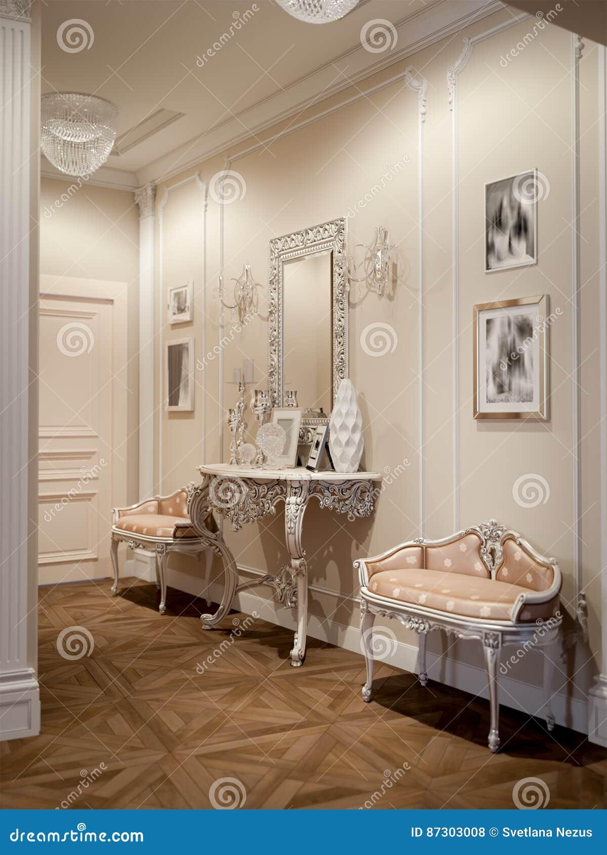 Elegante klassieke en luxueuze zaal
