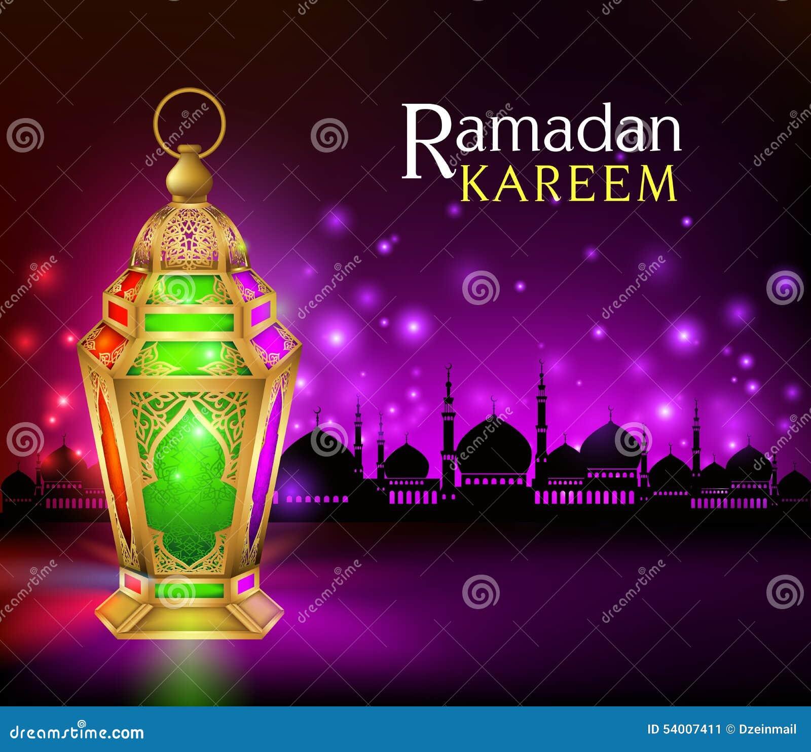 Elegante Ramadan Kareem Lantern of Fanous