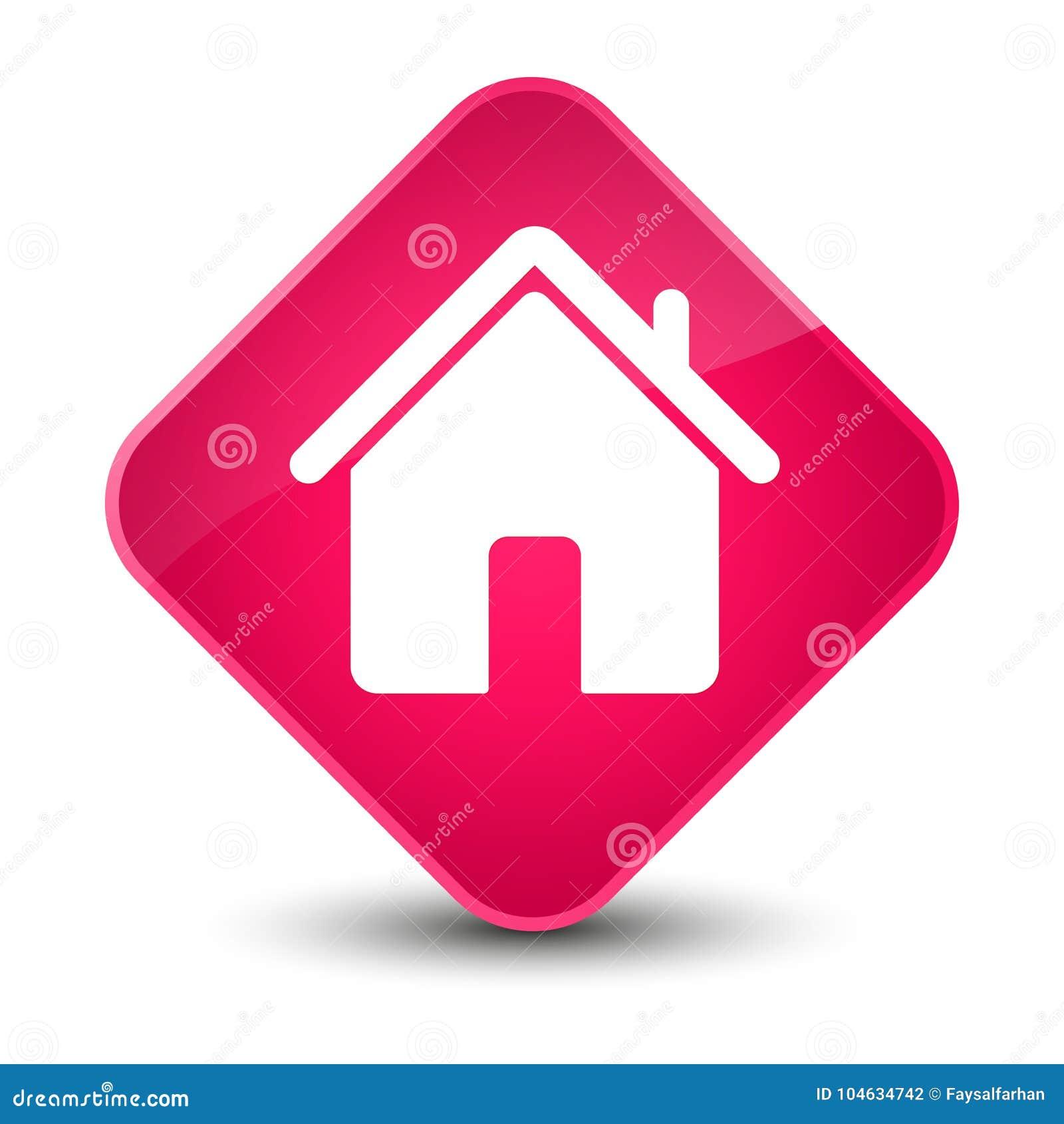 Download Elegante Roze De Diamantknoop Van Het Huispictogram Stock Illustratie - Illustratie bestaande uit huis, teken: 104634742