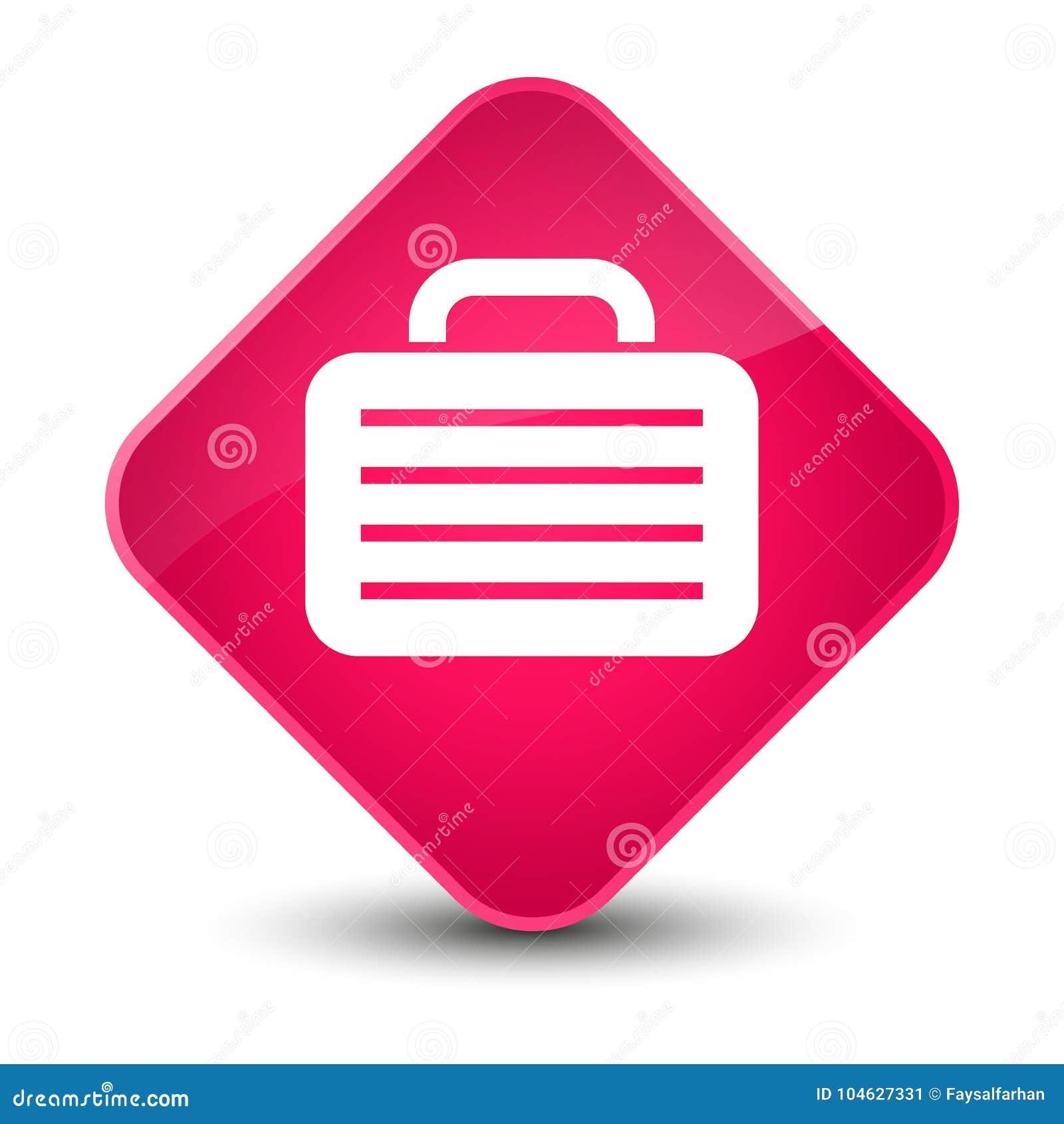 Download Elegante Roze De Diamantknoop Van Het Zakpictogram Stock Illustratie - Illustratie bestaande uit aktentas, pictogram: 104627331