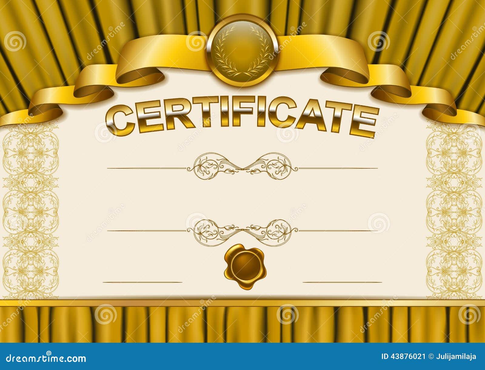 Elegante Schablone Des Zertifikats, Diplom Vektor Abbildung ...