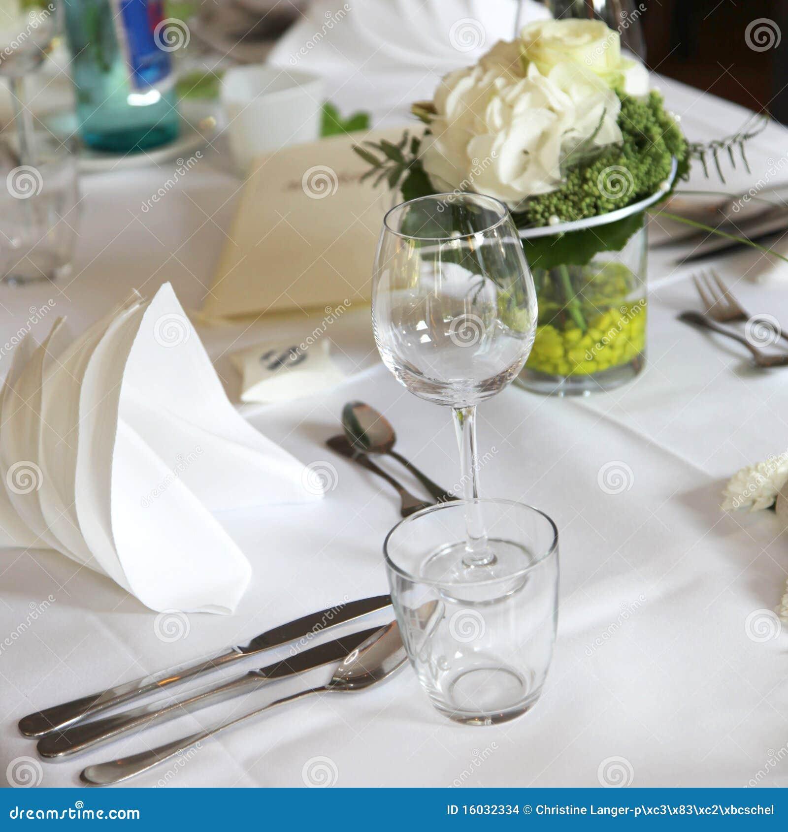 Elegante Tabellendekoration