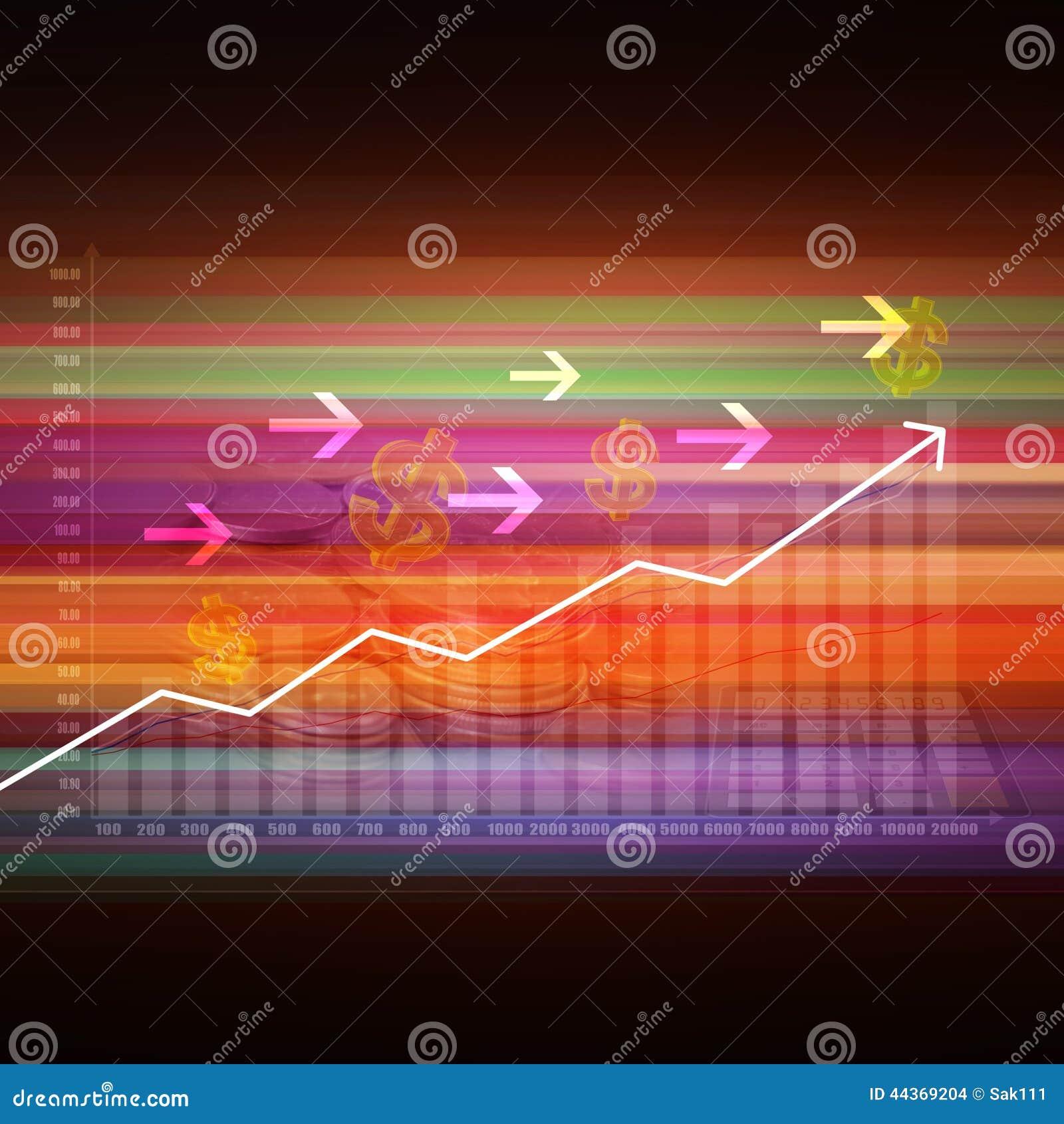 Elegante variopinto del grafico del mercato azionario su fondo astratto
